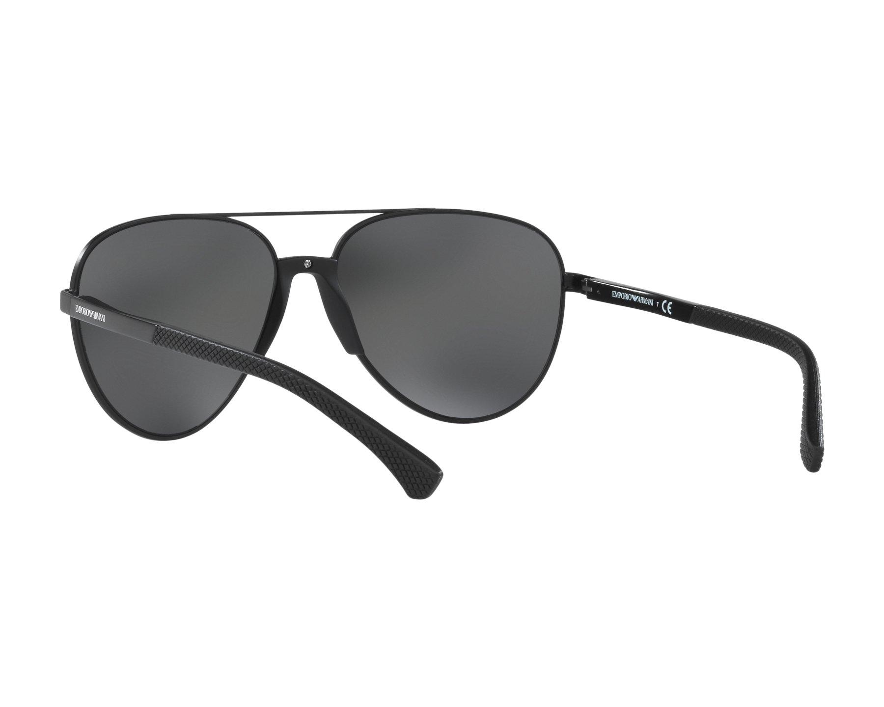 108c84c74324 Sunglasses Emporio Armani EA-2059 320387 61-15 Black 360 degree view 6