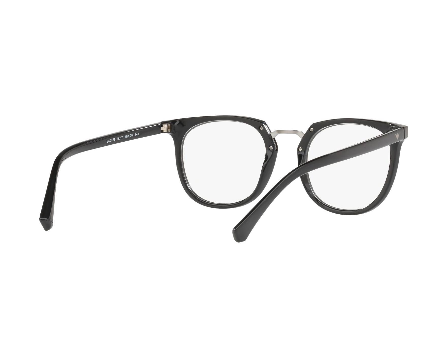 909e5c465ff eyeglasses Emporio Armani EA-3139 5017 51-20 Black 360 degree view 8