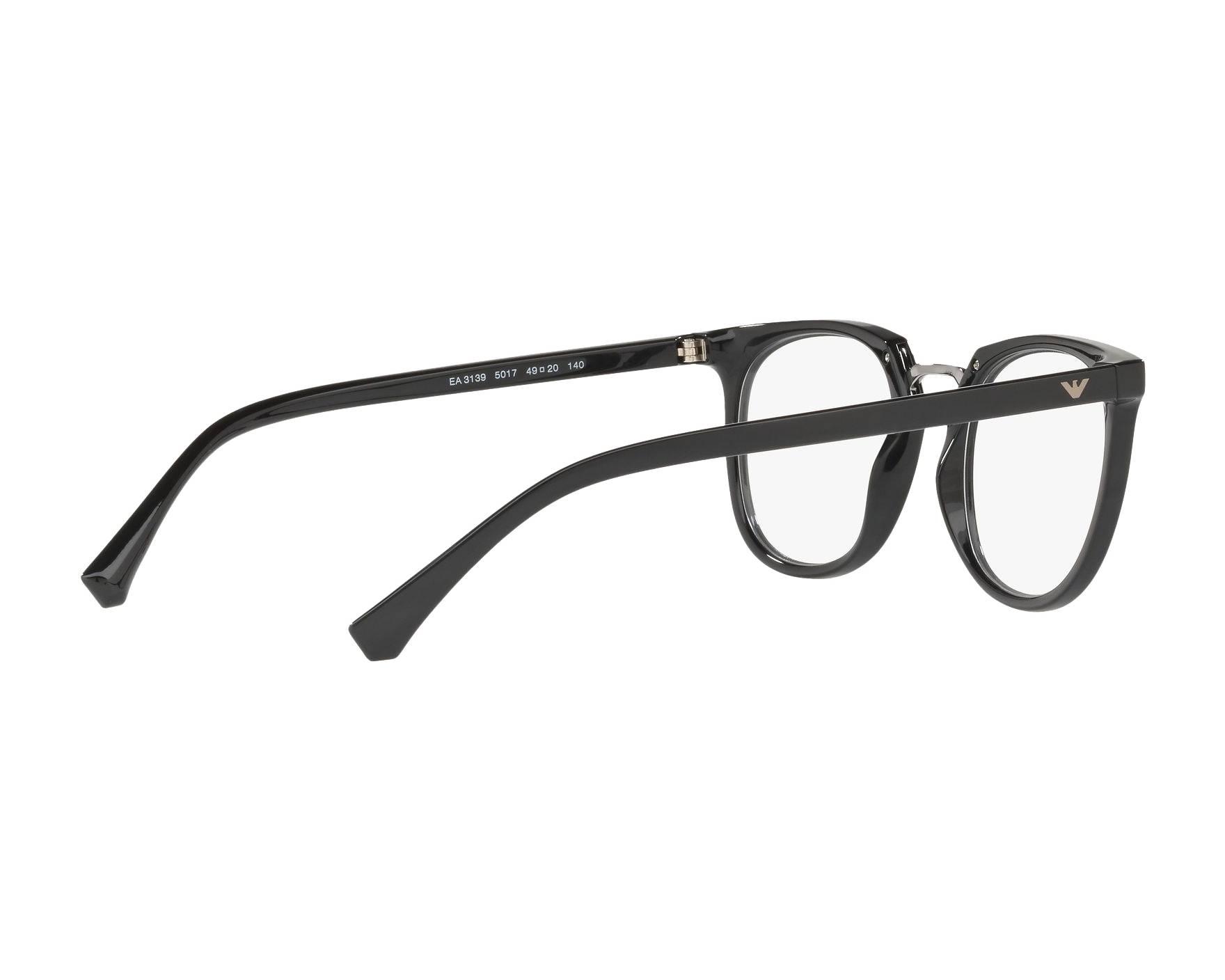 4a5fa28a46f eyeglasses Emporio Armani EA-3139 5017 51-20 Black 360 degree view 9