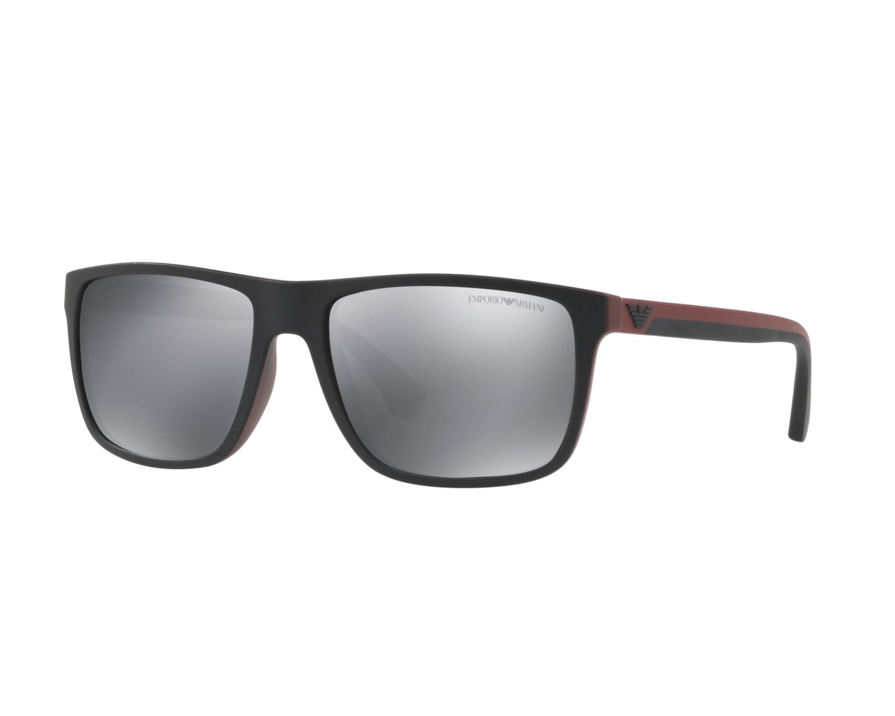 a876675a7e8b9 Sunglasses Emporio Armani EA-4033 56146G 56-17 Black Bordeaux