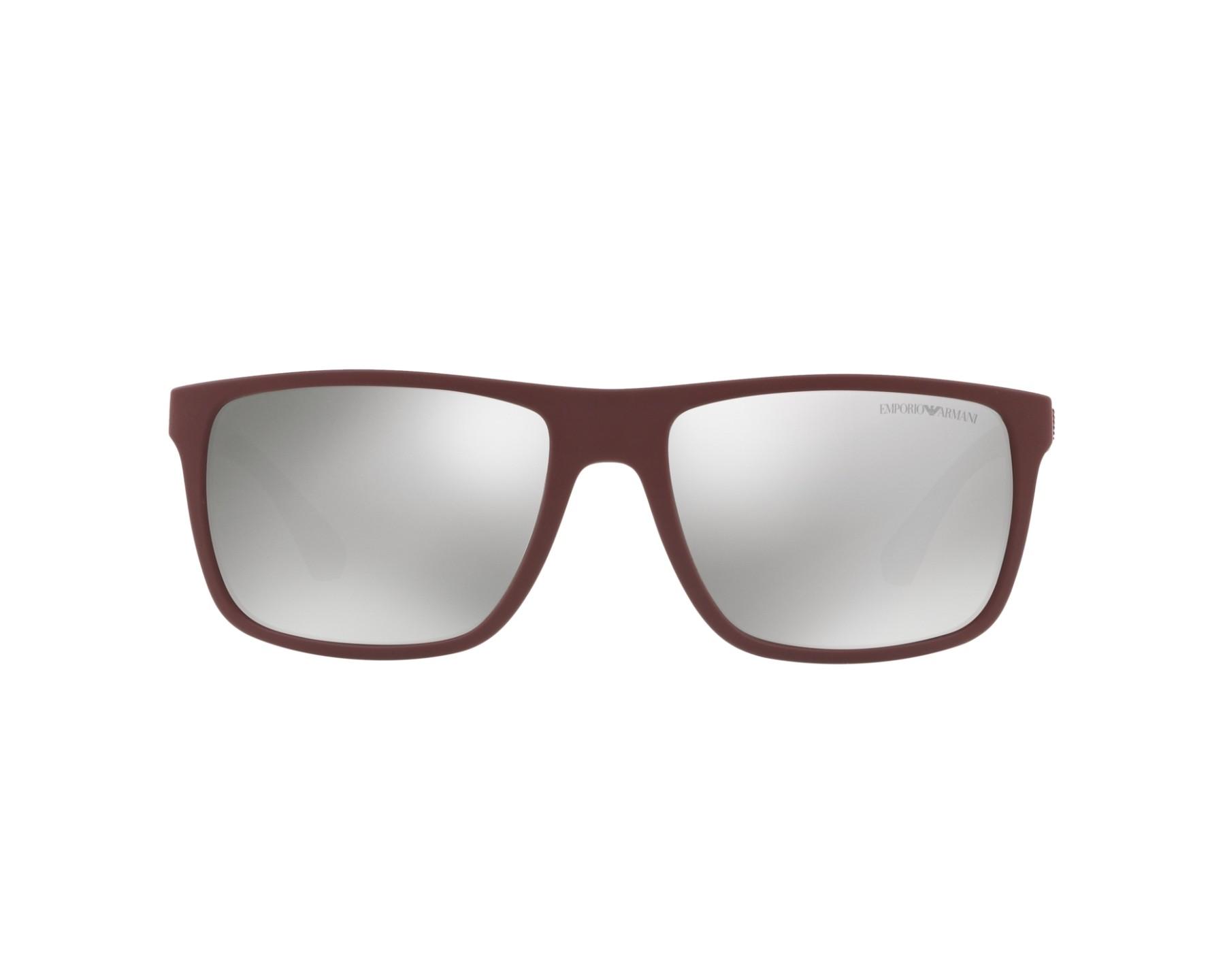 d24cb9c2ebb31 Sunglasses Emporio Armani EA-4033 56166G 56-17 Bordeaux Grey 360 degree  view 1