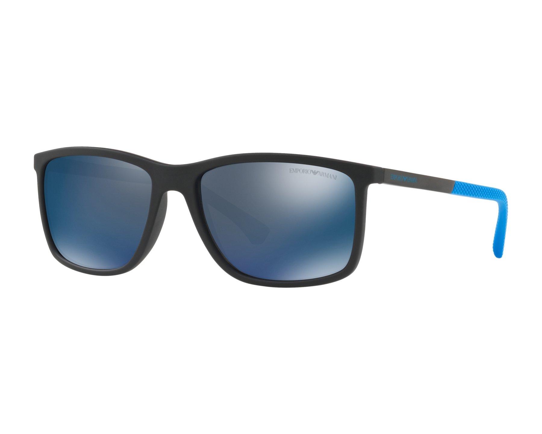 a00abef3a15 Sunglasses Emporio Armani EA-4058 565025 58-17 Black Blue