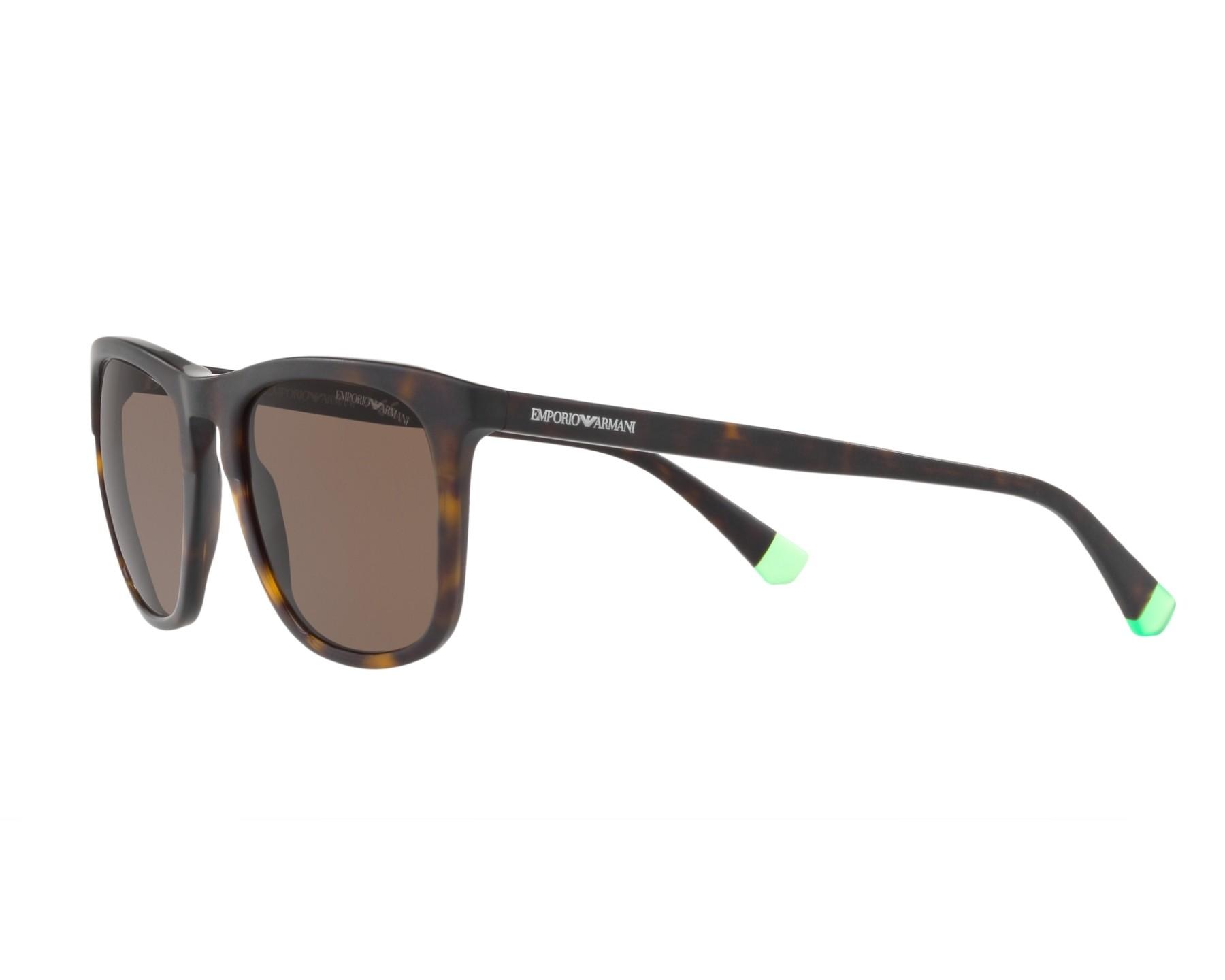Sunglasses Emporio Armani EA-4105 508973 53-20 Havana 360 degree view 3 3b94be2113