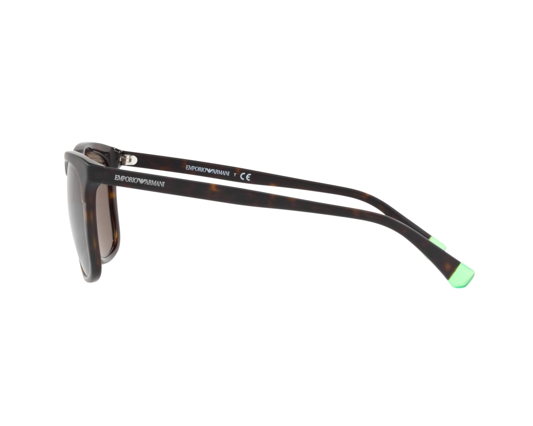 Sunglasses Emporio Armani EA-4105 508973 53-20 Havana 360 degree view 4 4253aa1b93