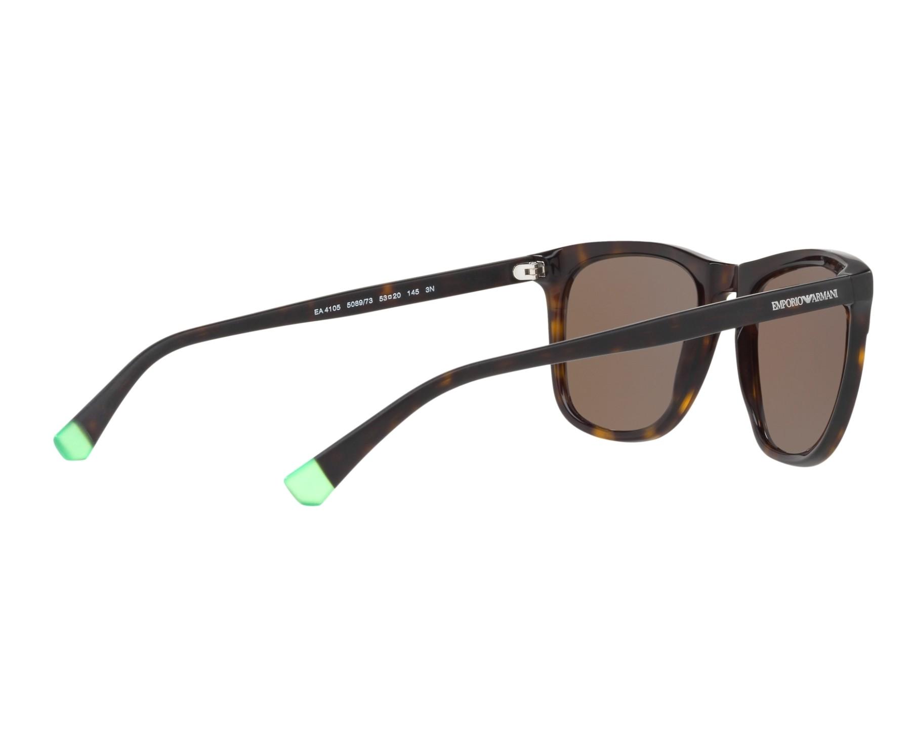 Sunglasses Emporio Armani EA-4105 508973 53-20 Havana 360 degree view 9 3ce859fb10
