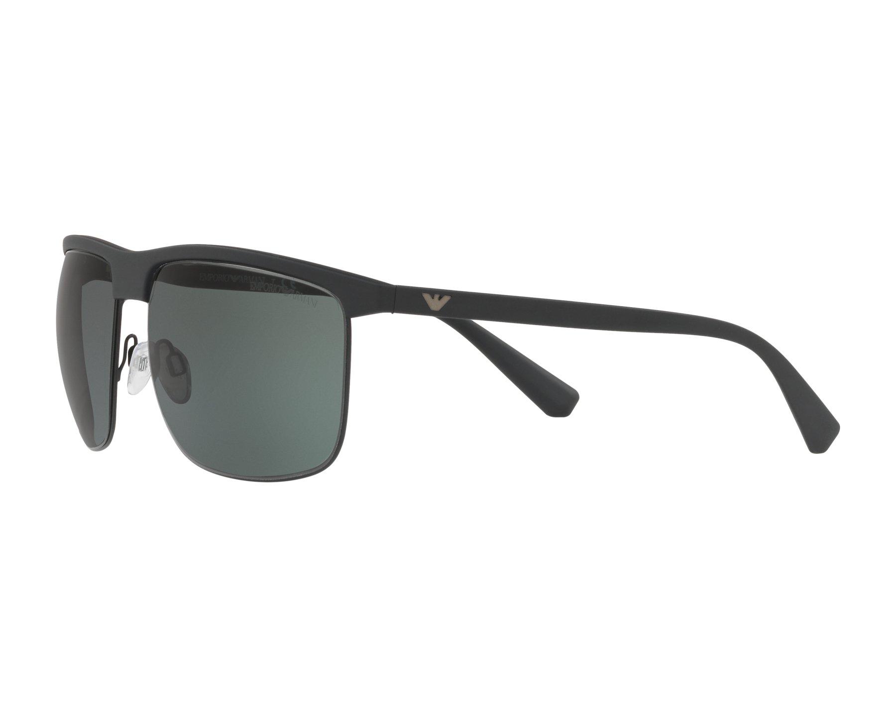e8dc93bd429 Sunglasses Emporio Armani EA-4108 504271 60-16 Black Gun 360 degree view 3