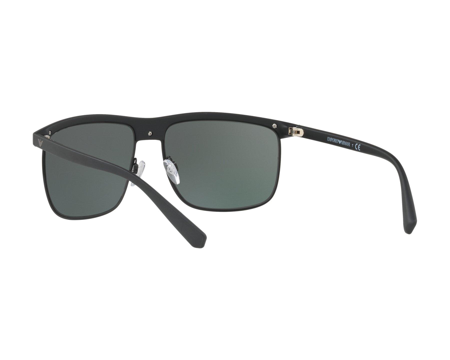 244a351c7dc Sunglasses Emporio Armani EA-4108 504271 60-16 Black Gun 360 degree view 6