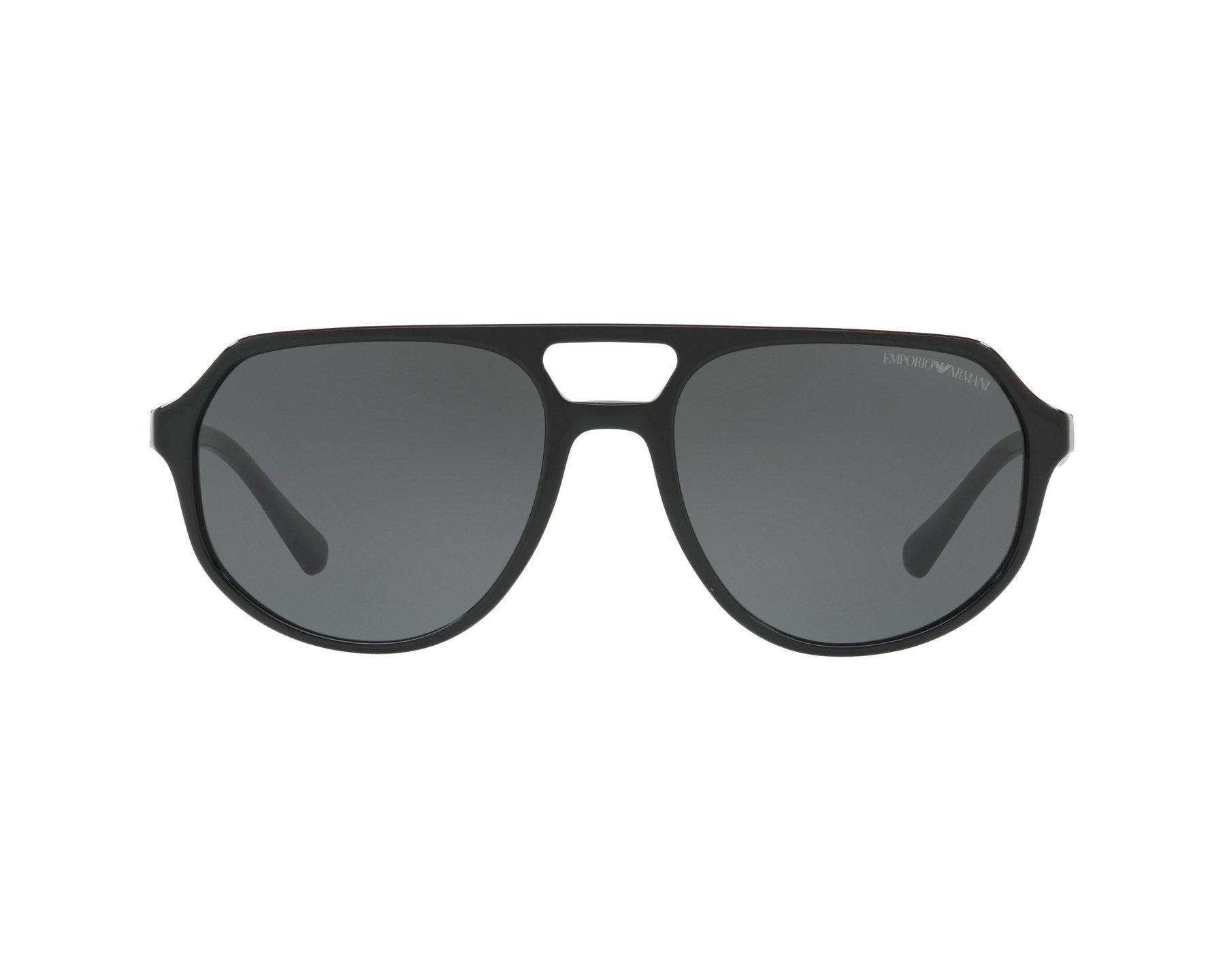 7442f38bf15 Sunglasses Emporio Armani EA-4111 500187 57-18 Black 360 degree view 1