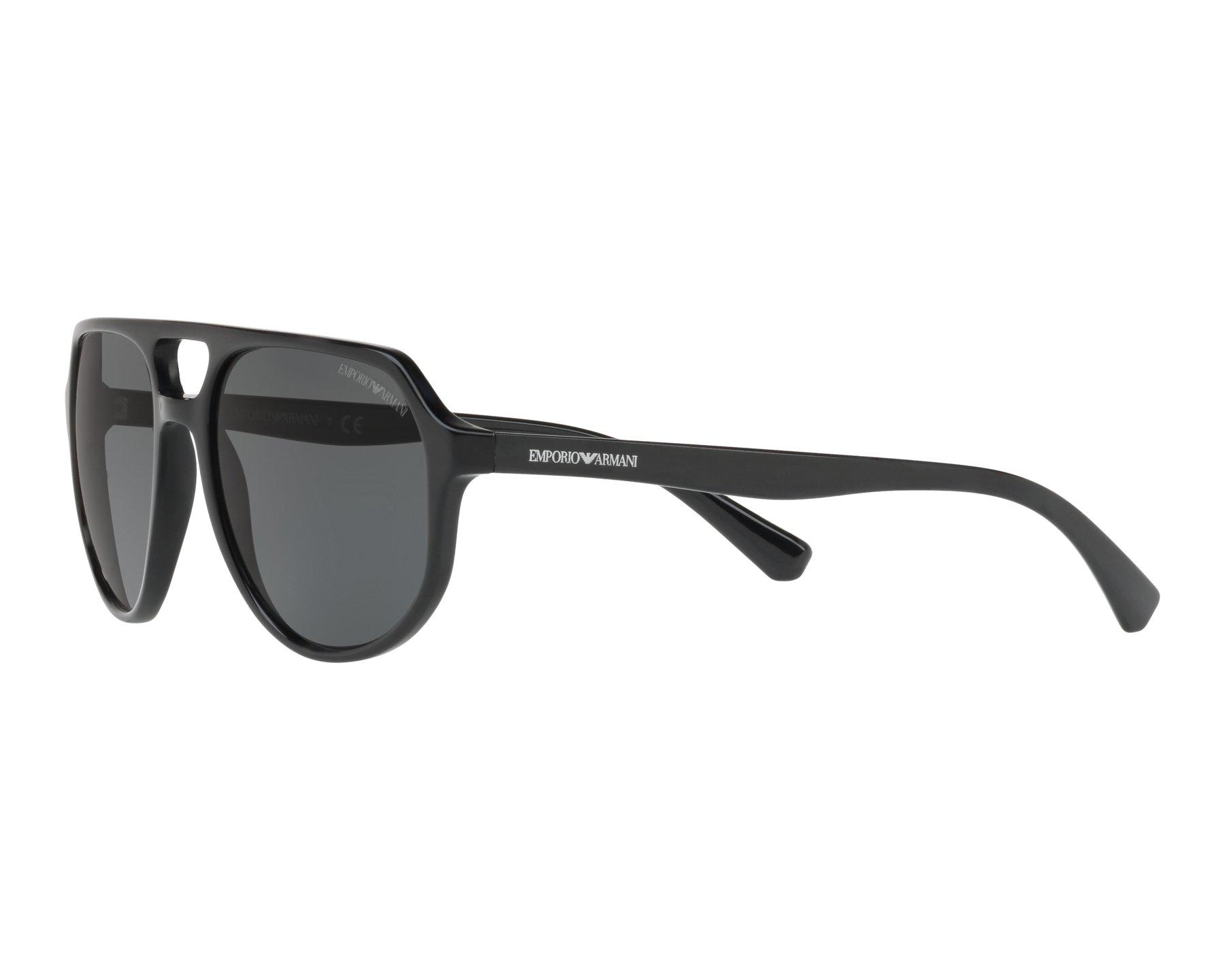 453f0d15589 Sunglasses Emporio Armani EA-4111 500187 57-18 Black 360 degree view 3