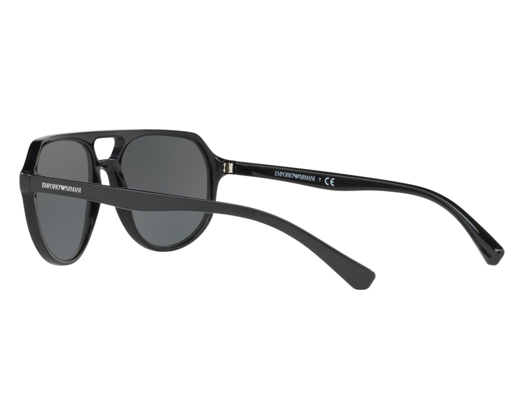 4acb47fc7a4 Sunglasses Emporio Armani EA-4111 500187 57-18 Black 360 degree view 5