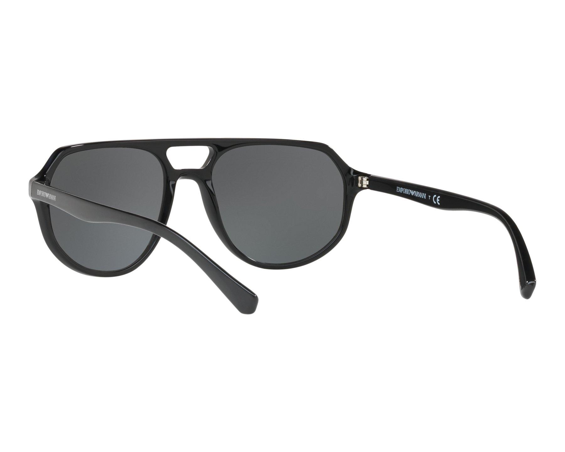 404b96c63f4 Sunglasses Emporio Armani EA-4111 500187 57-18 Black 360 degree view 6