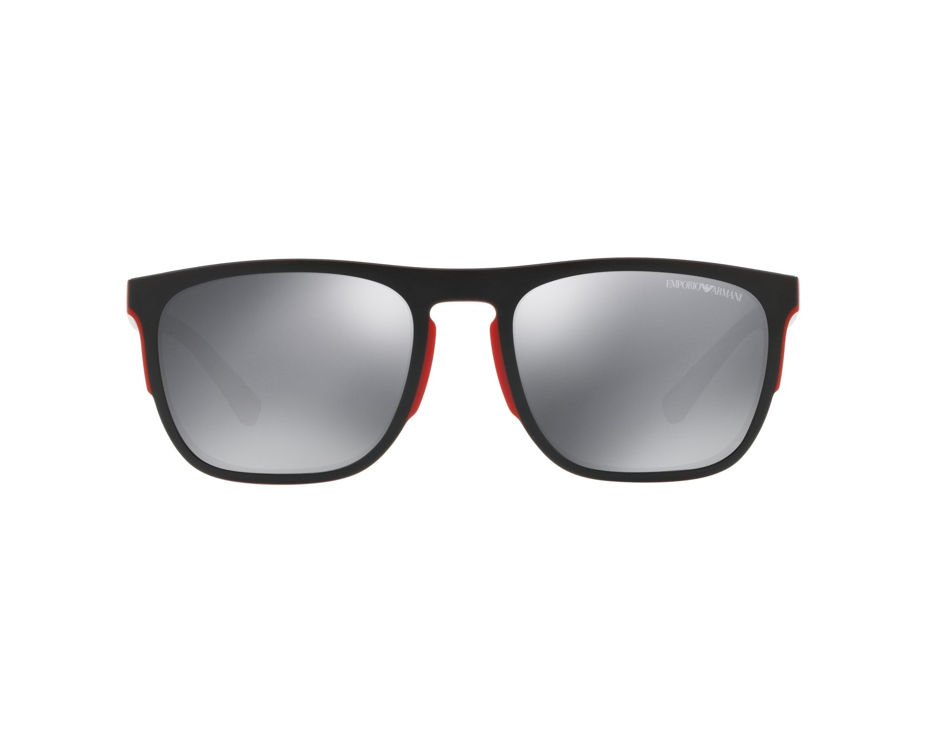 dac3641e02 Sunglasses Emporio Armani EA-4114 56726G 55-20 Black Red 360 degree view 1