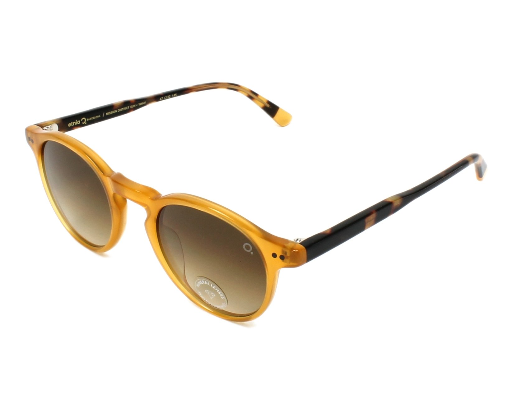 9d8c60aef94 Sunglasses Etnia Barcelona MISSIONDISTRICT YWHV 47-22 Yellow Havana profile  view