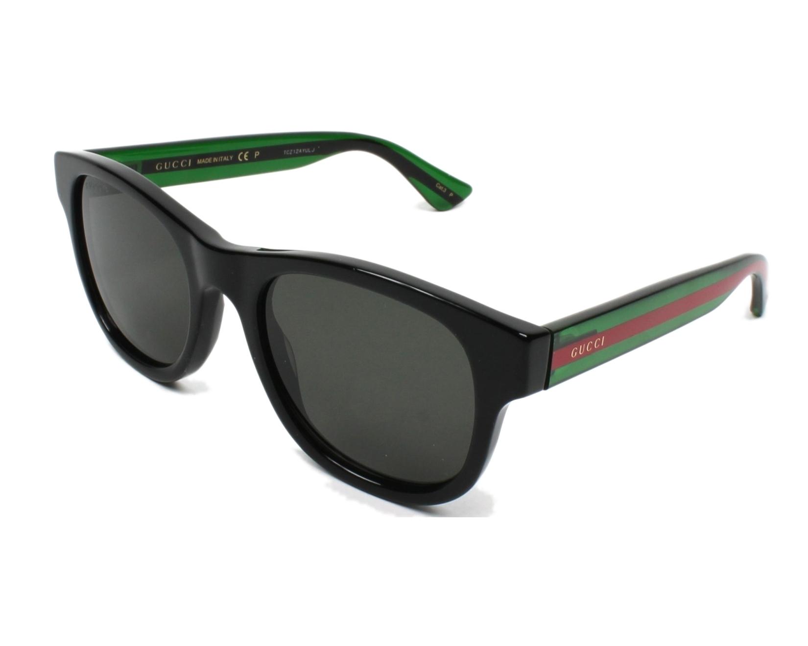 5f7bd1aea0 Sunglasses Gucci GG-0003-S 006 52-21 Black profile view