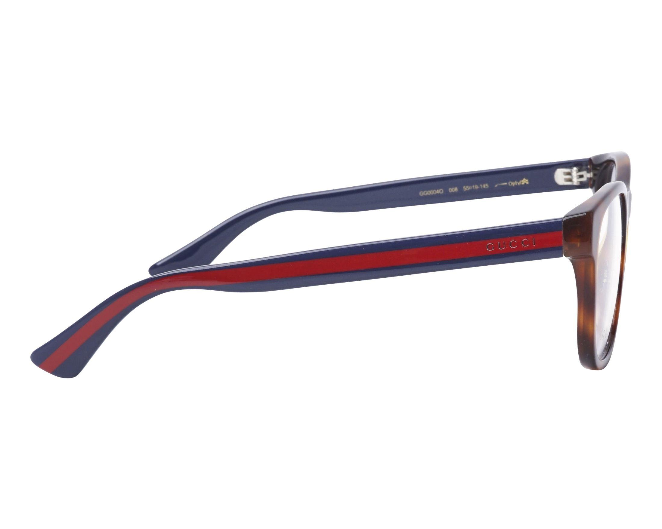 49aff04ab2 eyeglasses Gucci GG-0004-O 008 55-19 Havana Blue side view