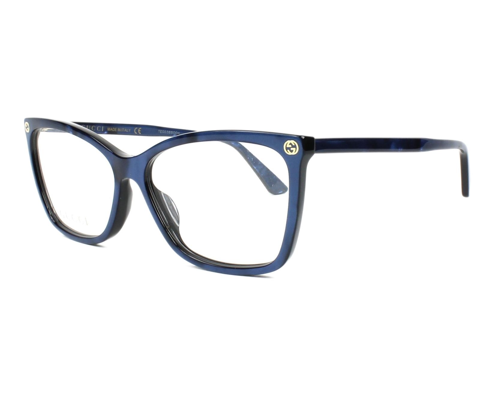 178b4abbcc7 eyeglasses Gucci GG-00250 005 56-14 Blue profile view