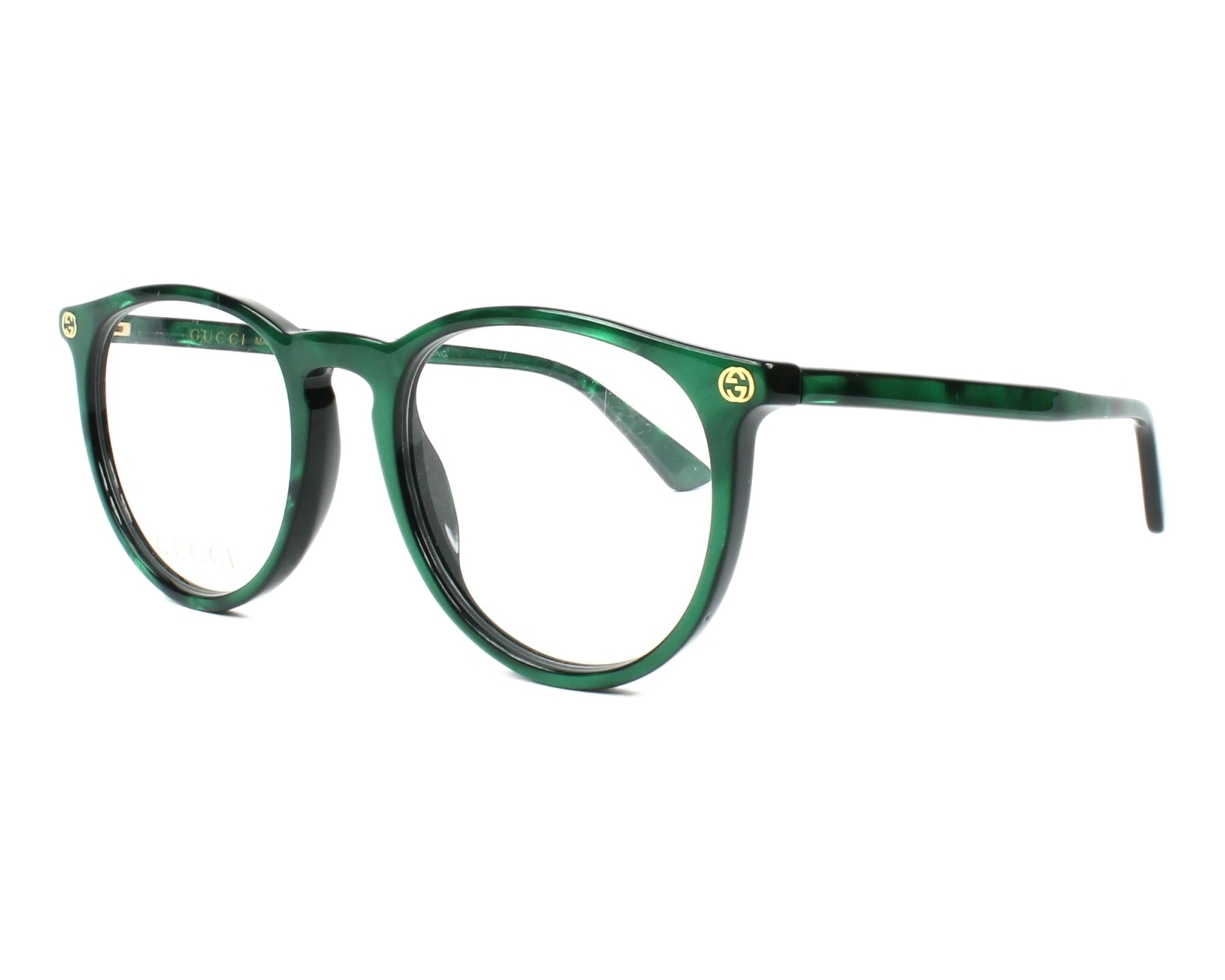 0e0fdeffc198 eyeglasses Gucci GG-00270 006 50-20 Green Green profile view