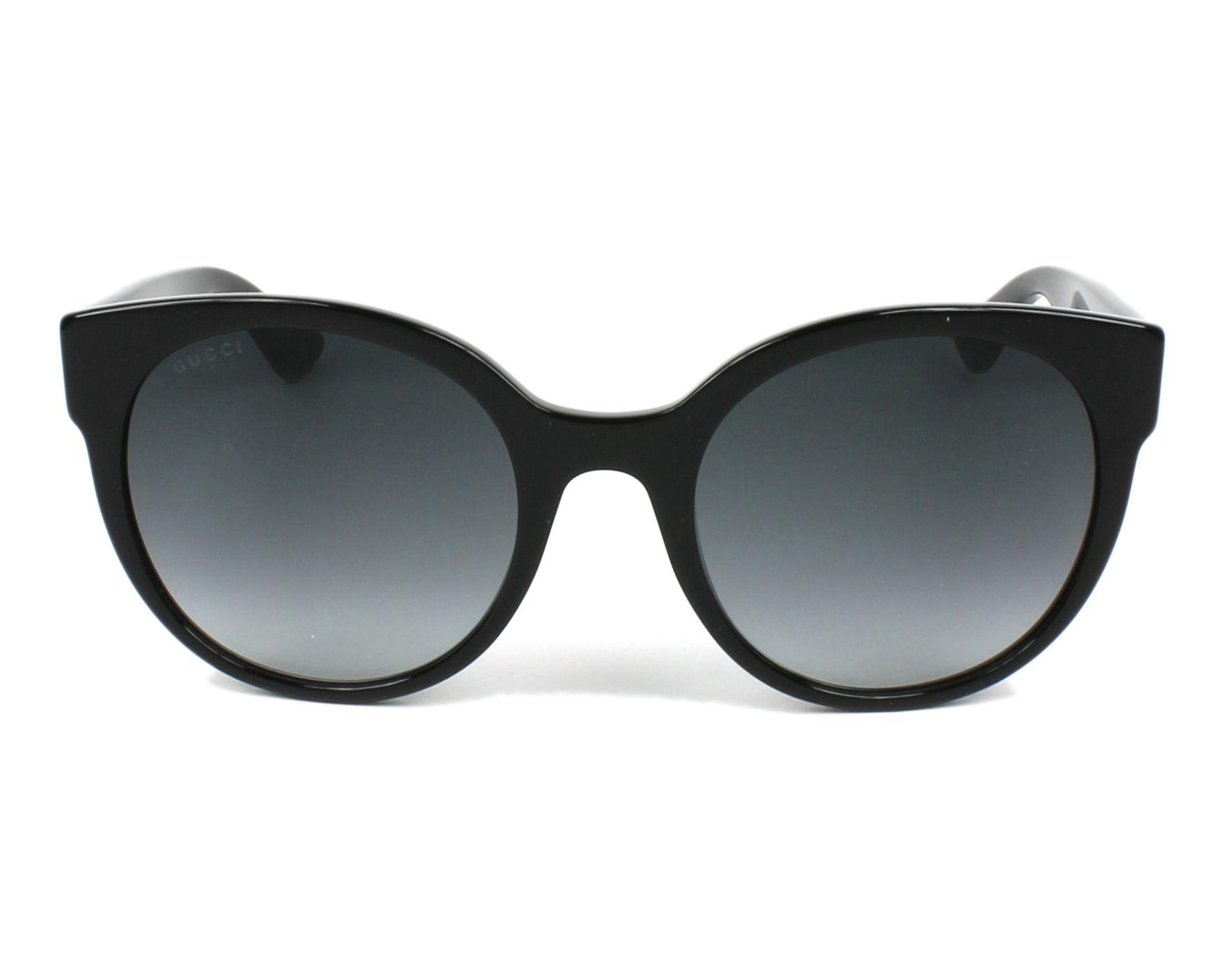 7b1c8ab688 Sunglasses Gucci GG-0035-S 001 54-22 Black front view