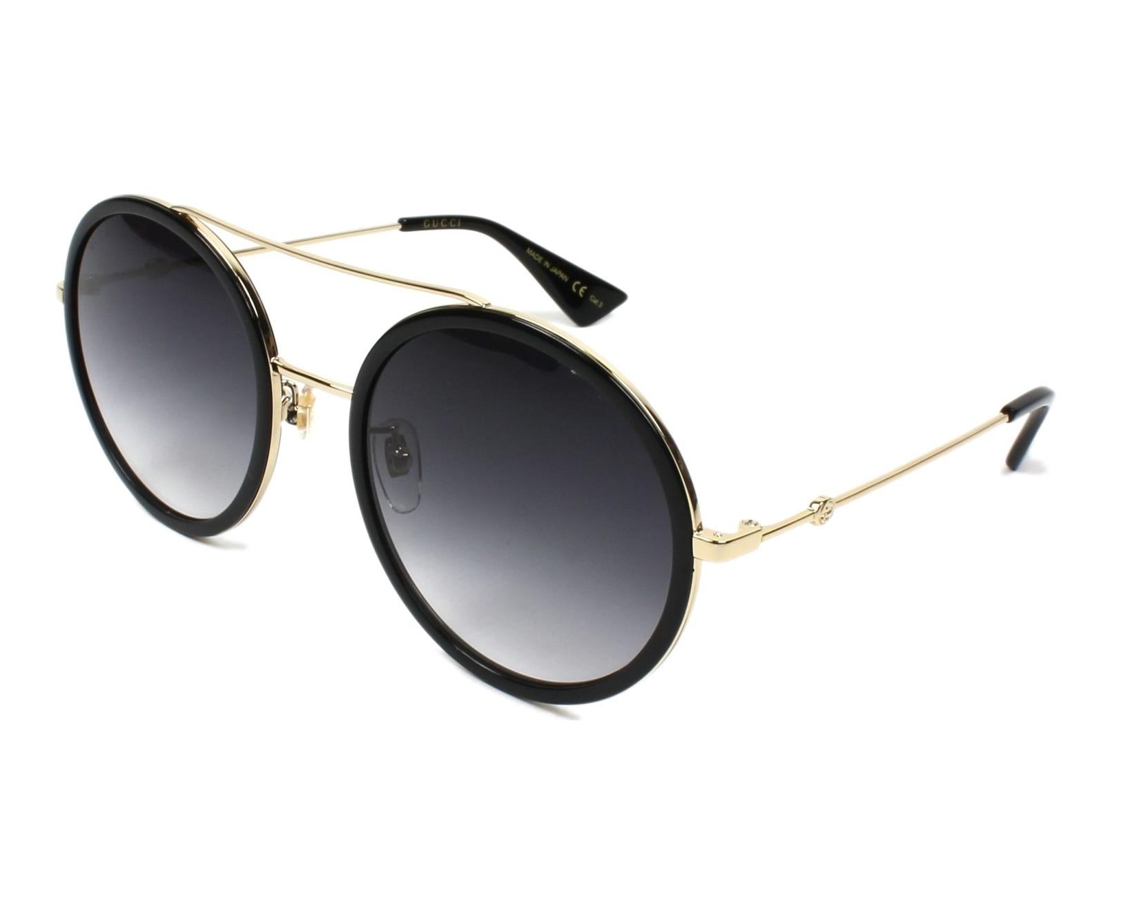 dd81f7a3cb Sunglasses Gucci GG-0061-S 001 56-22 Black Gold profile view