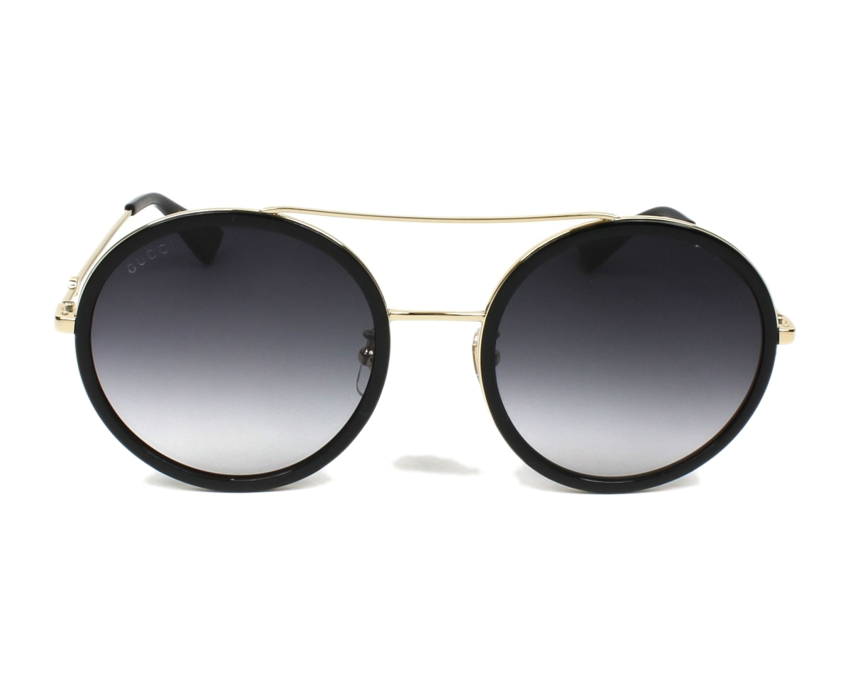 78b95a5ccd7 Sunglasses Gucci GG-0061-S 001 56-22 Black Gold front view