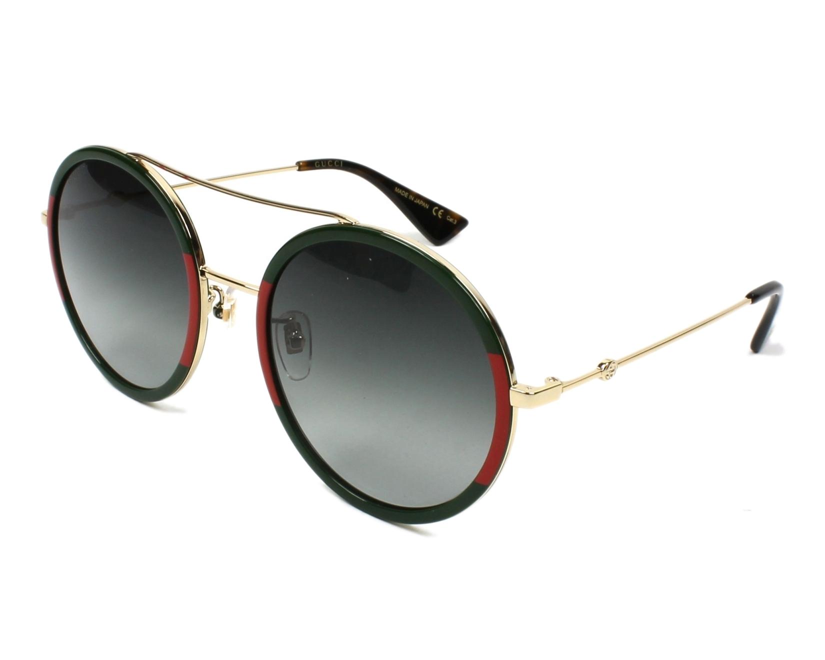 f31e1d3c8c861 Sunglasses Gucci GG-0061-S 003 56-22 Green Red profile view
