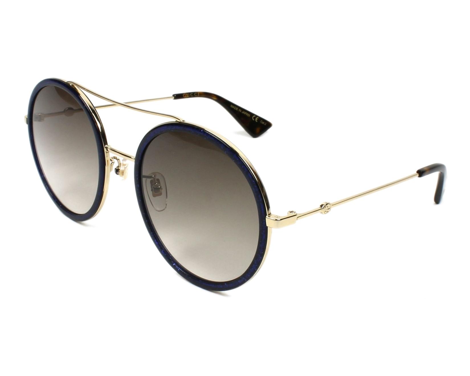 b4f83d6480a Sunglasses Gucci GG-0061-S 005 - Blue Gold profile view