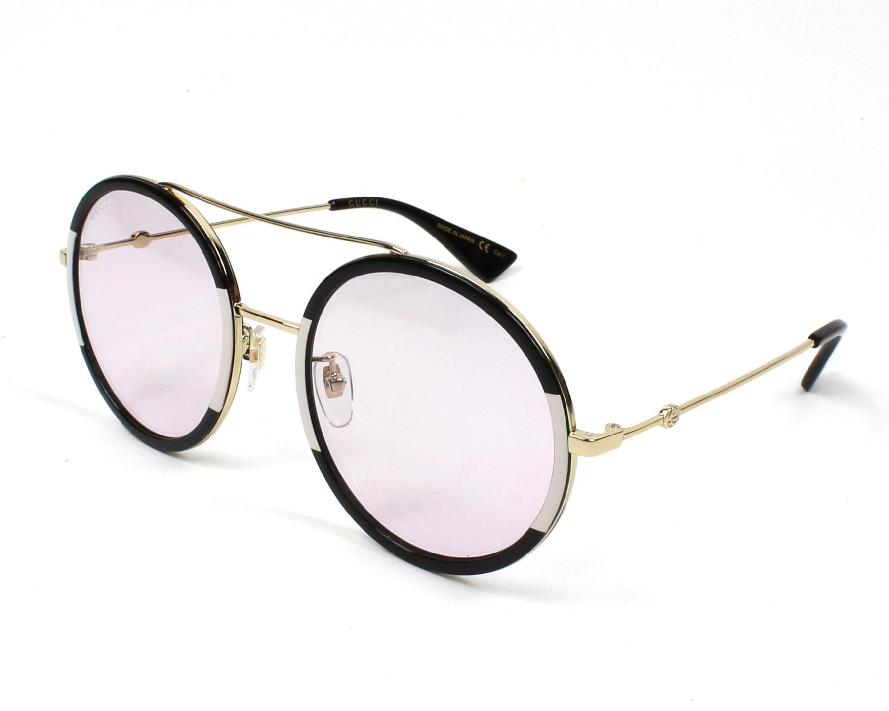 aeca7371821 Sunglasses Gucci GG-0061-S 006 56-22 Black Pink profile view