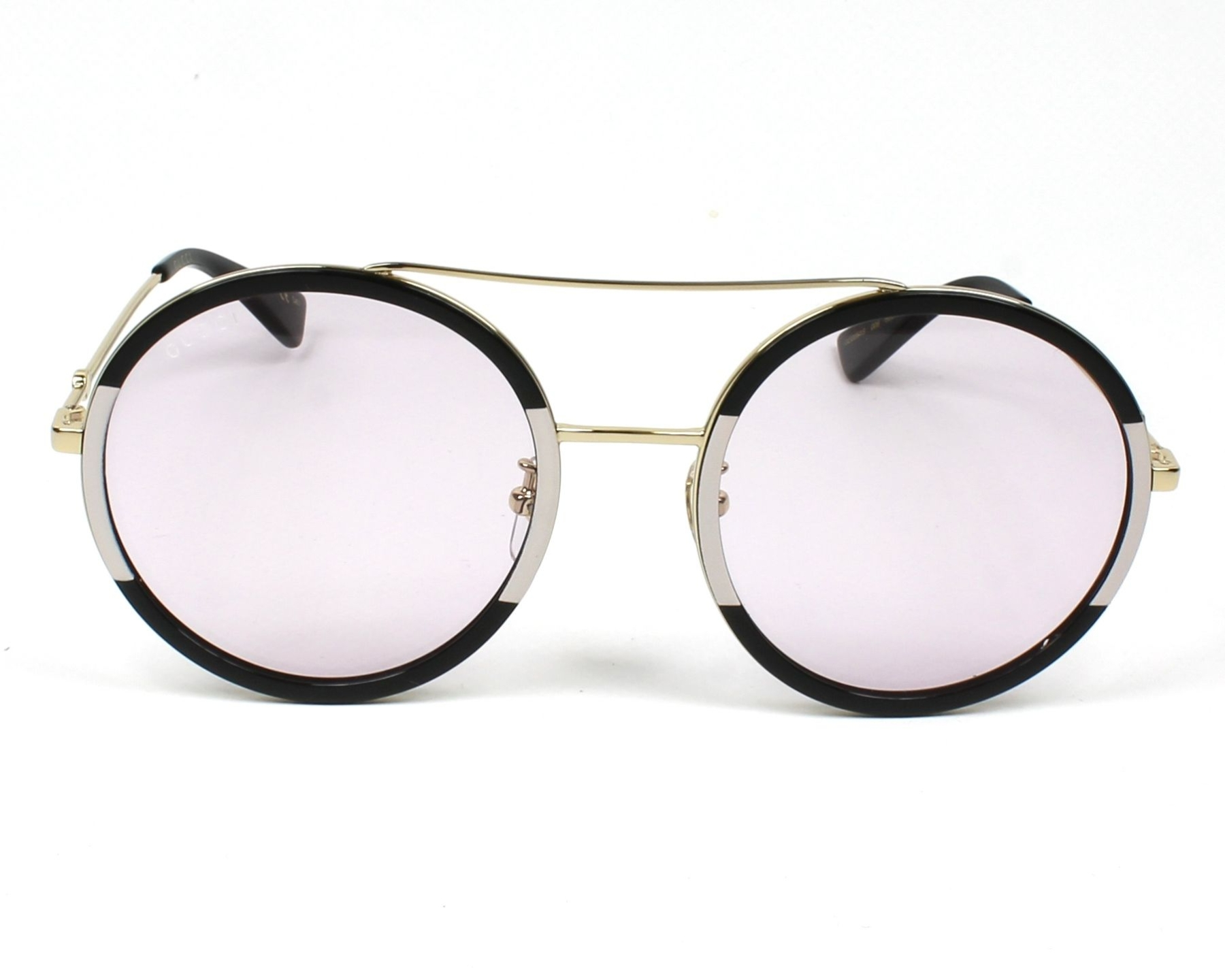 25a29099fe5 Sunglasses Gucci GG-0061-S 006 56-22 Black Pink front view
