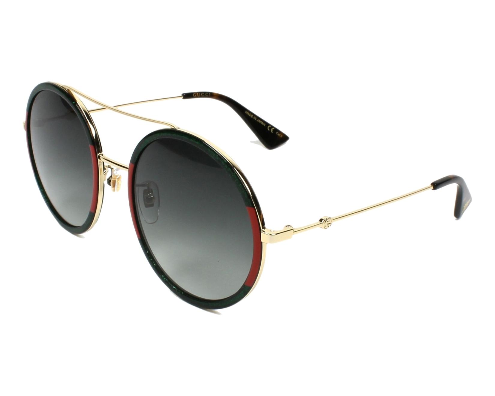 bcd4d85472f Sunglasses Gucci GG-0061-S 008 56-22 Green Red profile view