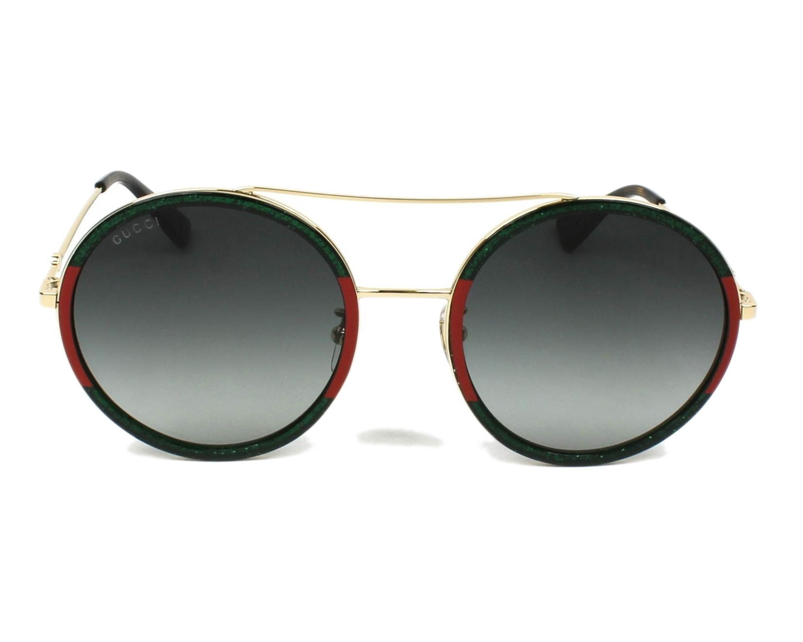 9745ad648aadad Sunglasses gucci green red front view jpg 1650x1320 Lentes gucci