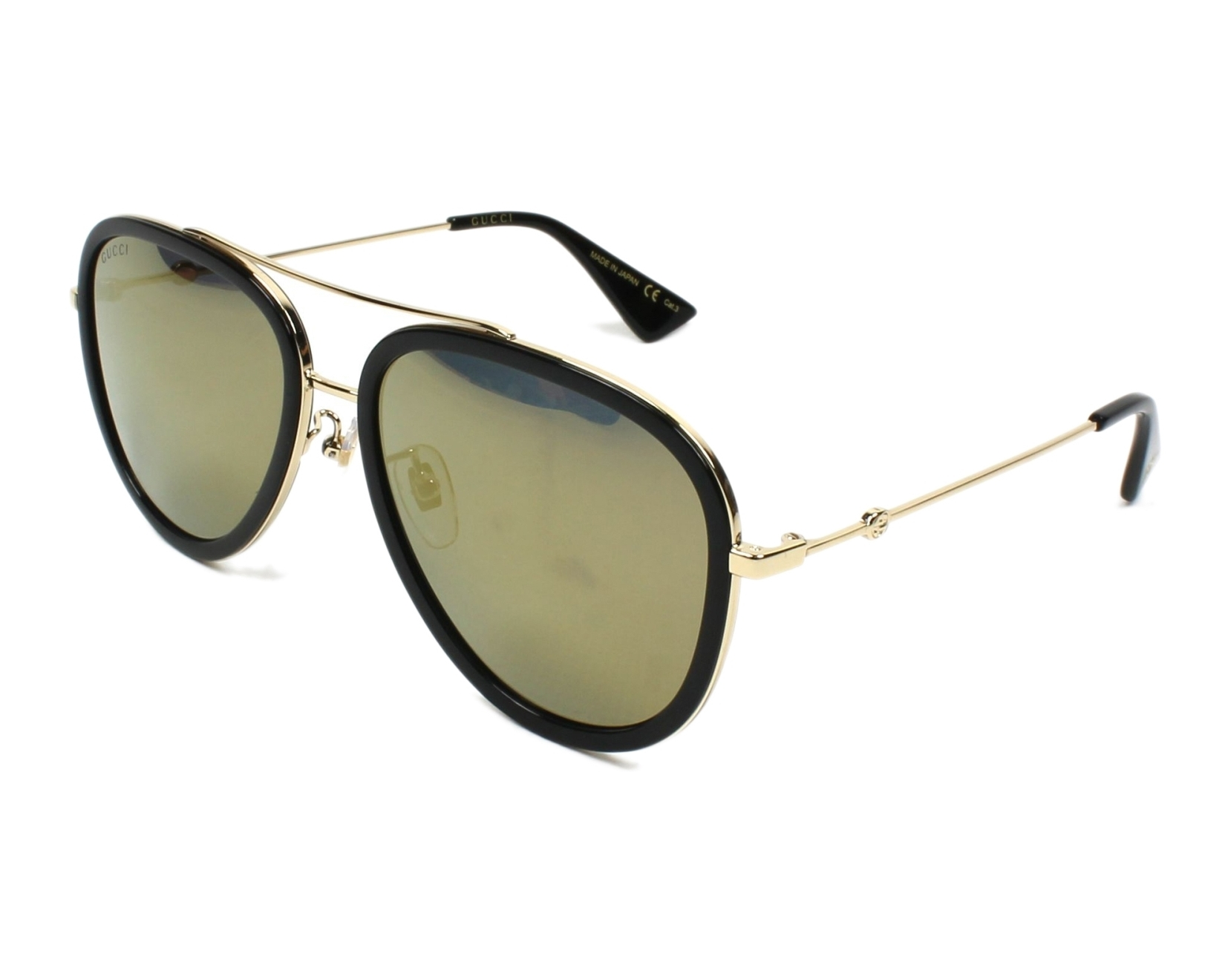 fe67b5dcf4 Sunglasses Gucci GG-0062-S 001 - Black Gold profile view