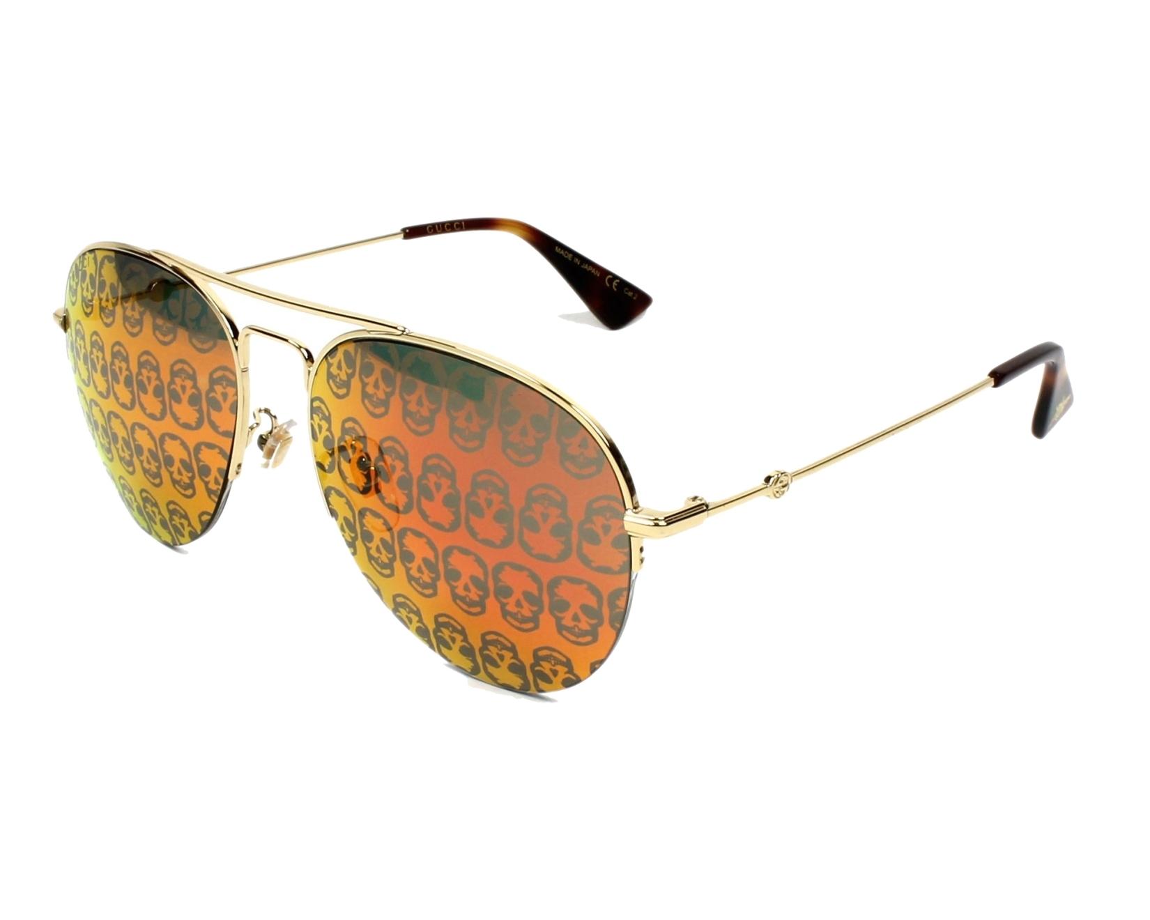 d02217e80e2 Sunglasses Gucci GG-0107-S 002 - Gold profile view