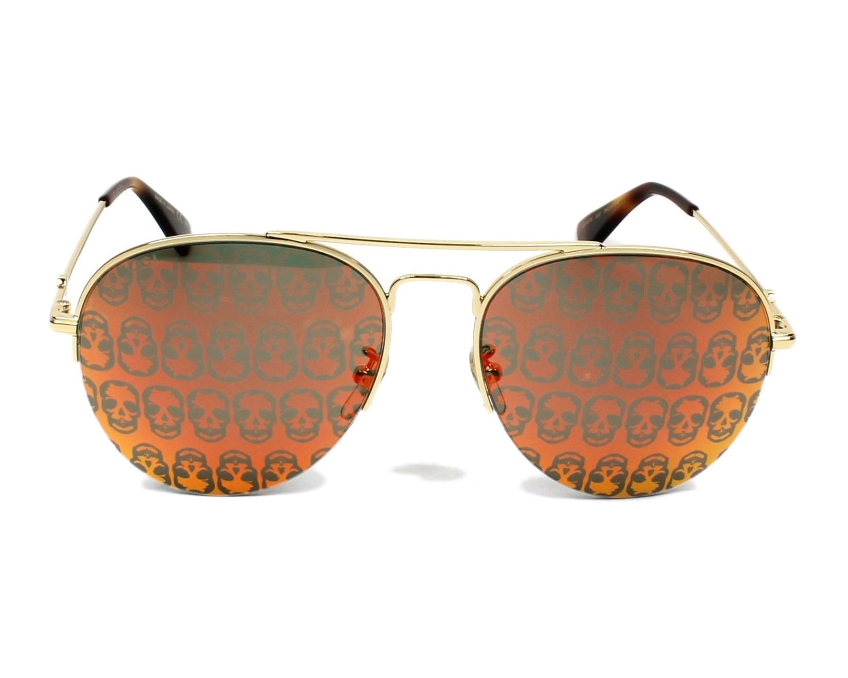 c4975515f9ba Sunglasses Gucci GG-0107-S 002 - Gold front view