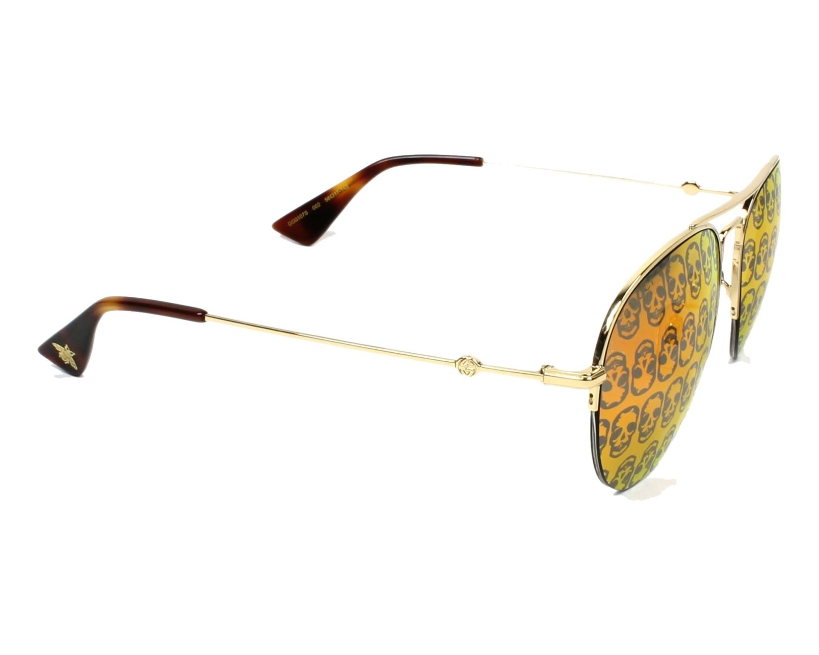 bdb86642ed90 Sunglasses Gucci GG-0107-S 002 - Gold side view