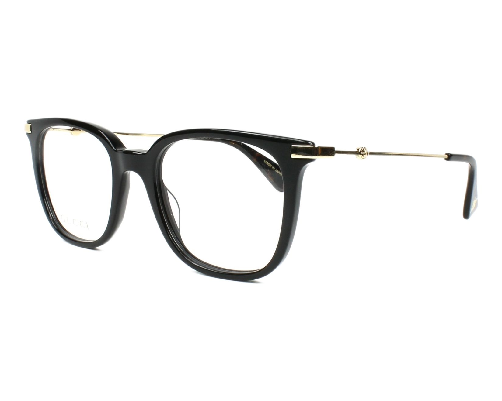 9a55ea08266 eyeglasses Gucci GG-01100 001 49-19 Black Gold profile view