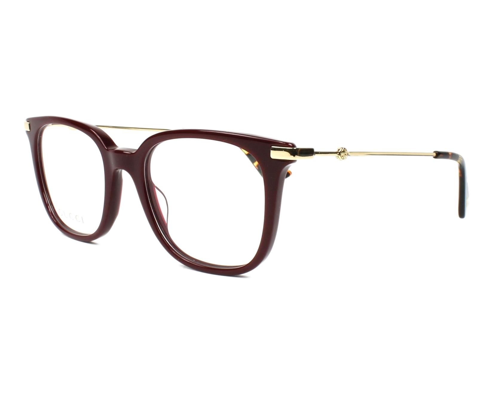 Gucci Eyeglasses Gg 01100 006 Bordeaux Visio Net Com