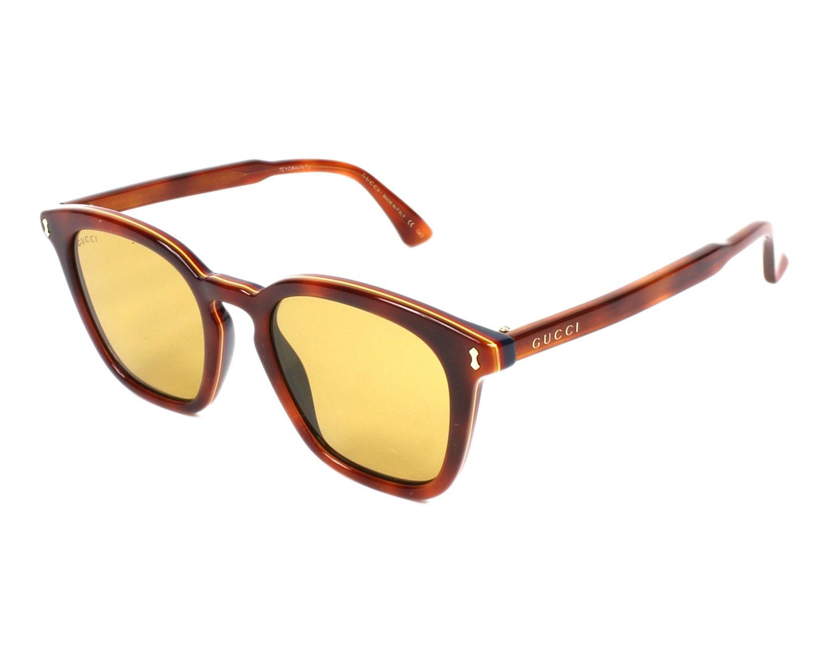 de961364cfe Sunglasses Gucci GG-0125-S 004 - Brown Blue profile view