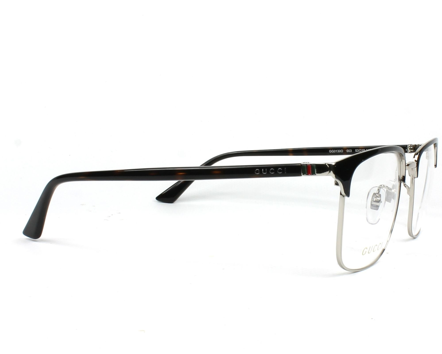 238407eb2c9c0 eyeglasses Gucci GG-01300 003 - Blue Silver side view