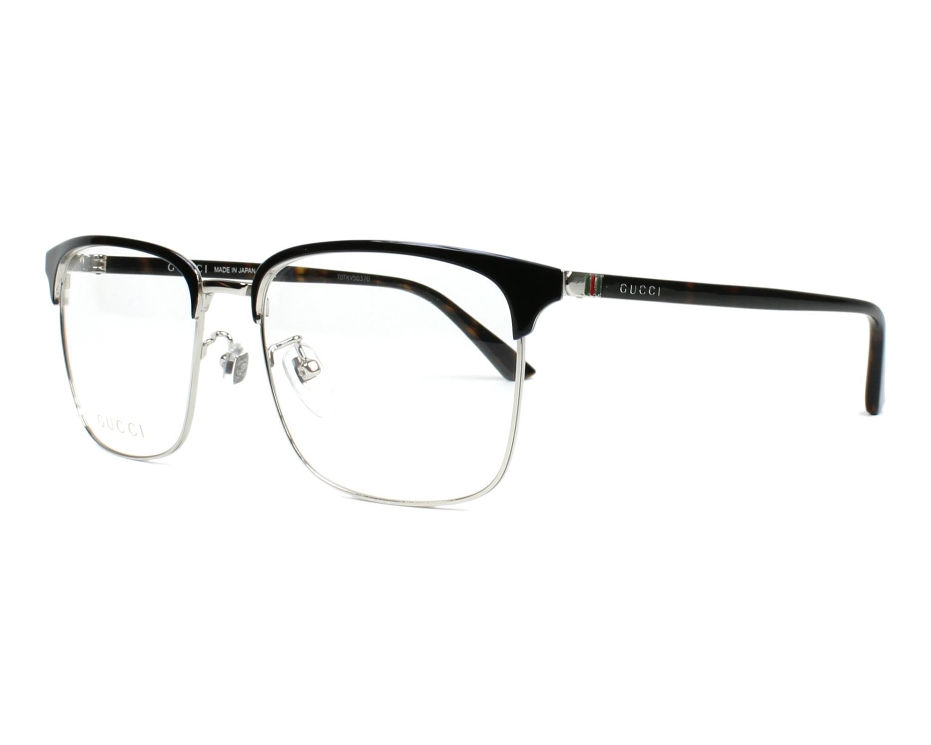 c793501dc1a eyeglasses Gucci GG-0130-O 006 - Black Silver profile view