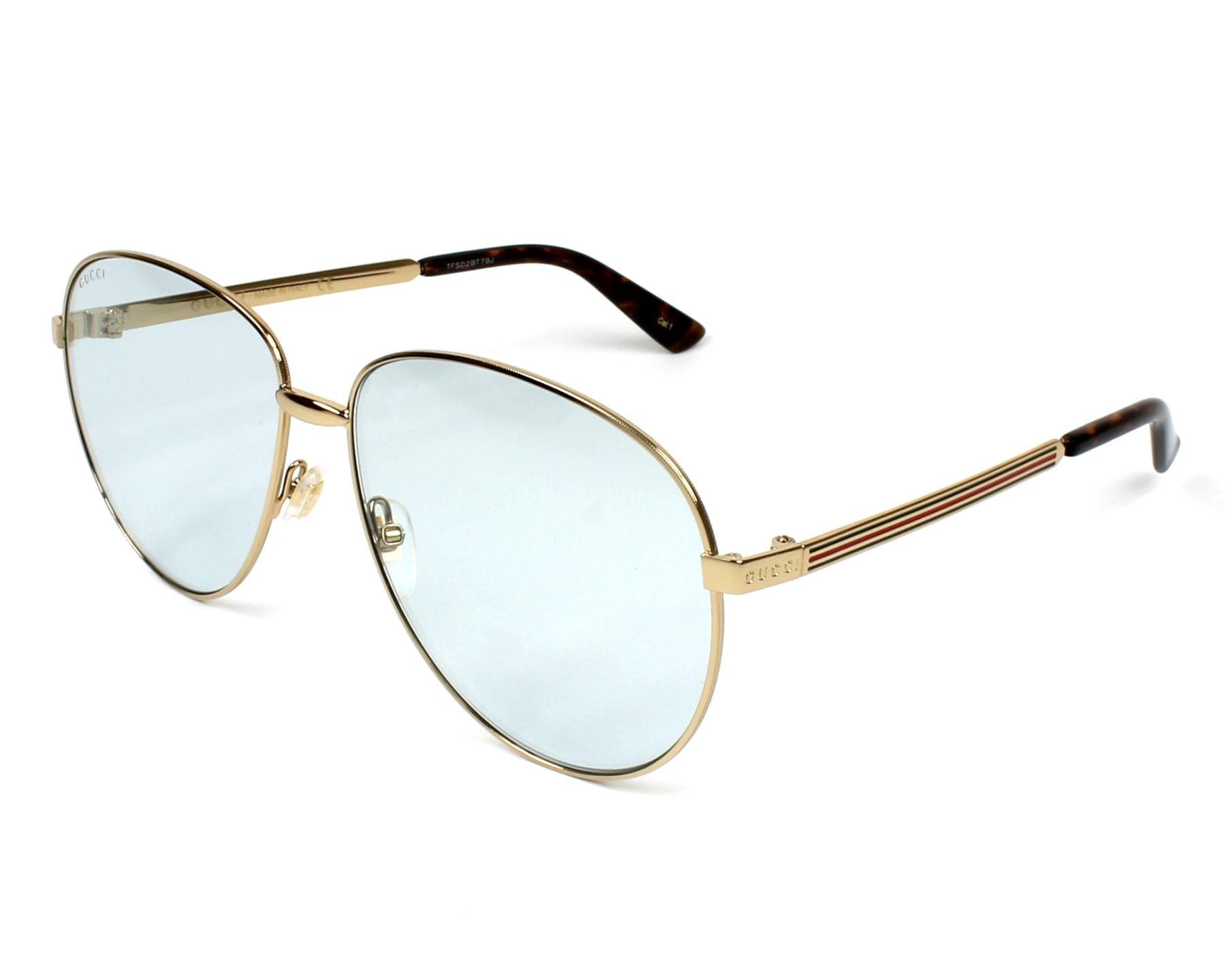 7a8e4e6d37 Sunglasses Gucci GG-0138-S 004 61-14 Gold profile view