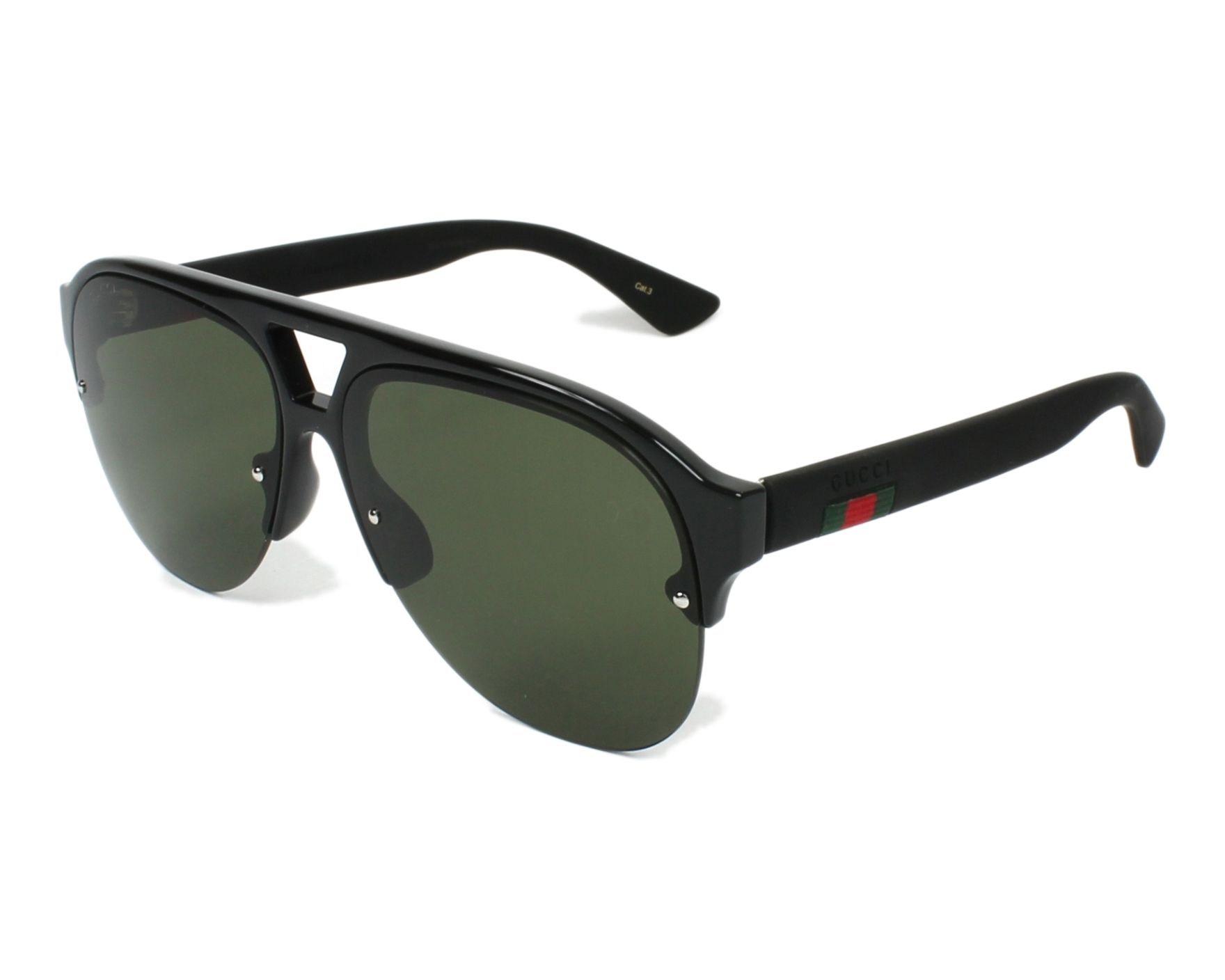4a7ea965bb8 Sunglasses Gucci GG-0170-S 001 59-13 Black Black profile view