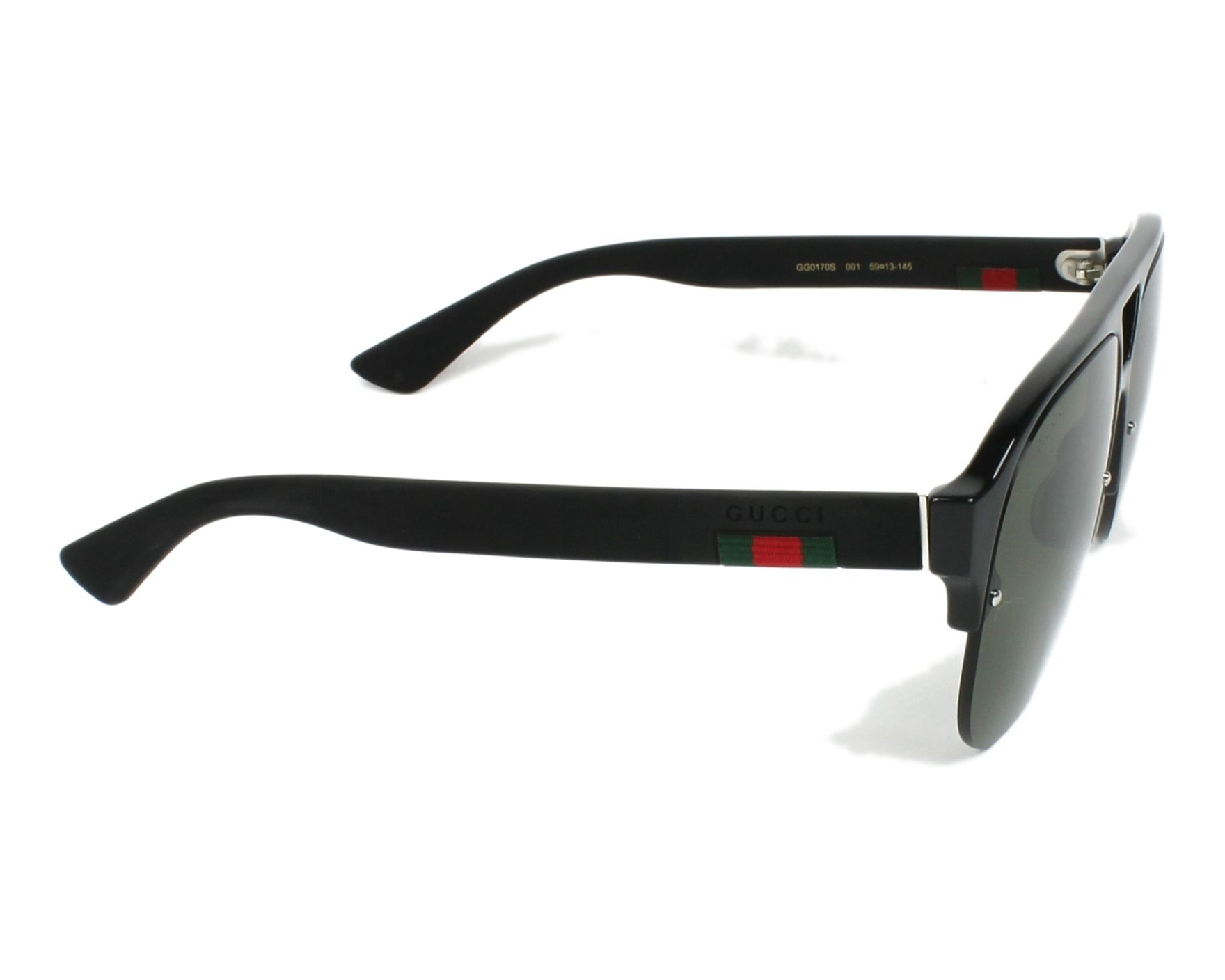 6d5b45d749f Sunglasses Gucci GG-0170-S 001 59-13 Black Black side view