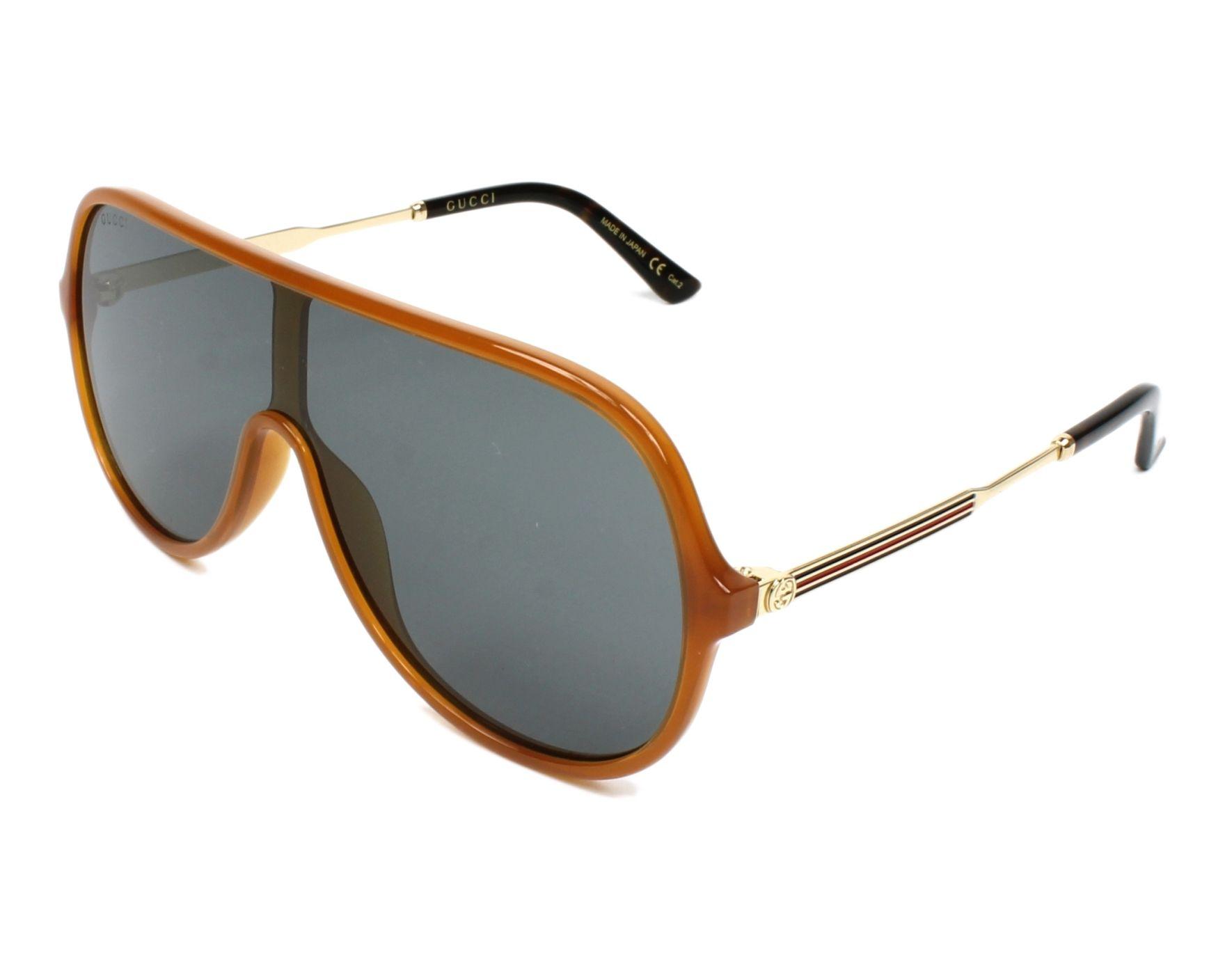b6aee1c487f Sunglasses Gucci GG-0199-S 005 - Brown Gold profile view