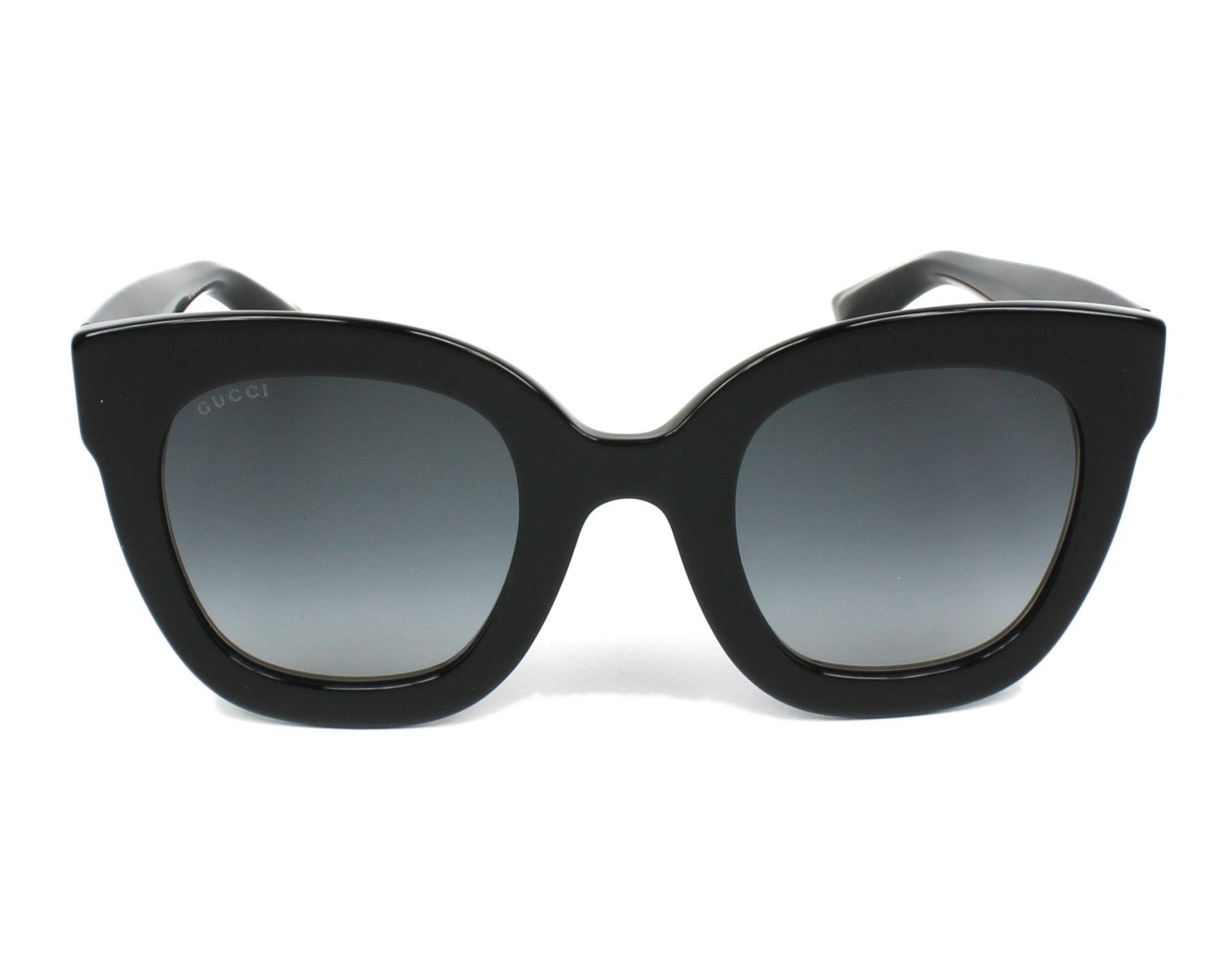 2b2061729ec Sunglasses Gucci GG-0208-S 001 49-25 Black front view
