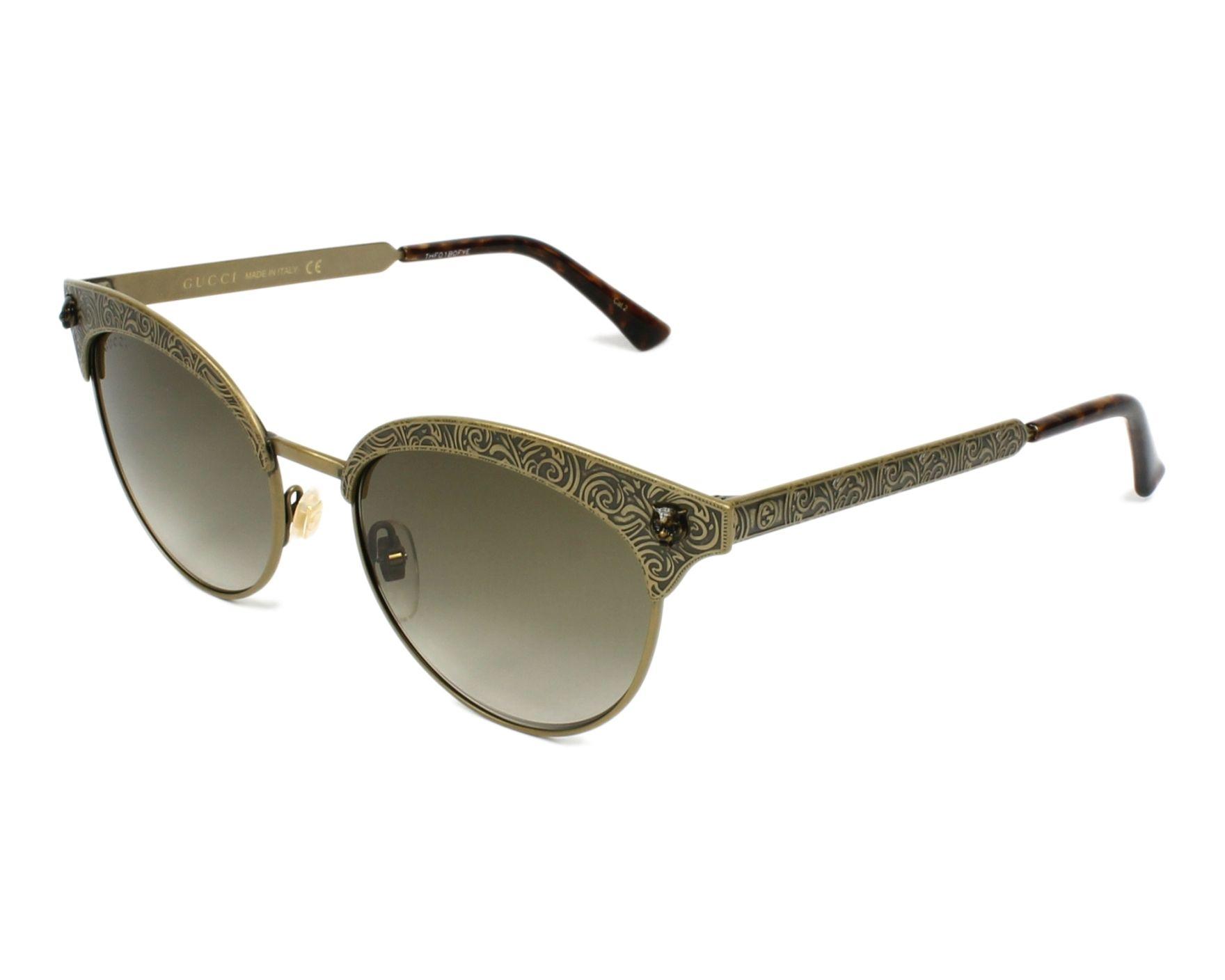 d0454993cb7 Sunglasses Gucci GG-0220-S 003 52-17 Brass Brass profile view