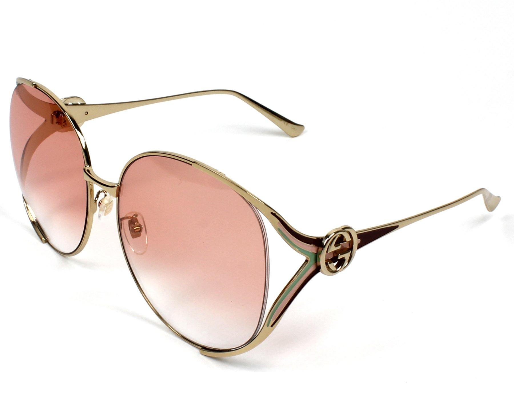 Gucci Sunglasses Gg 0225 S 005 Gold Visio Net Com