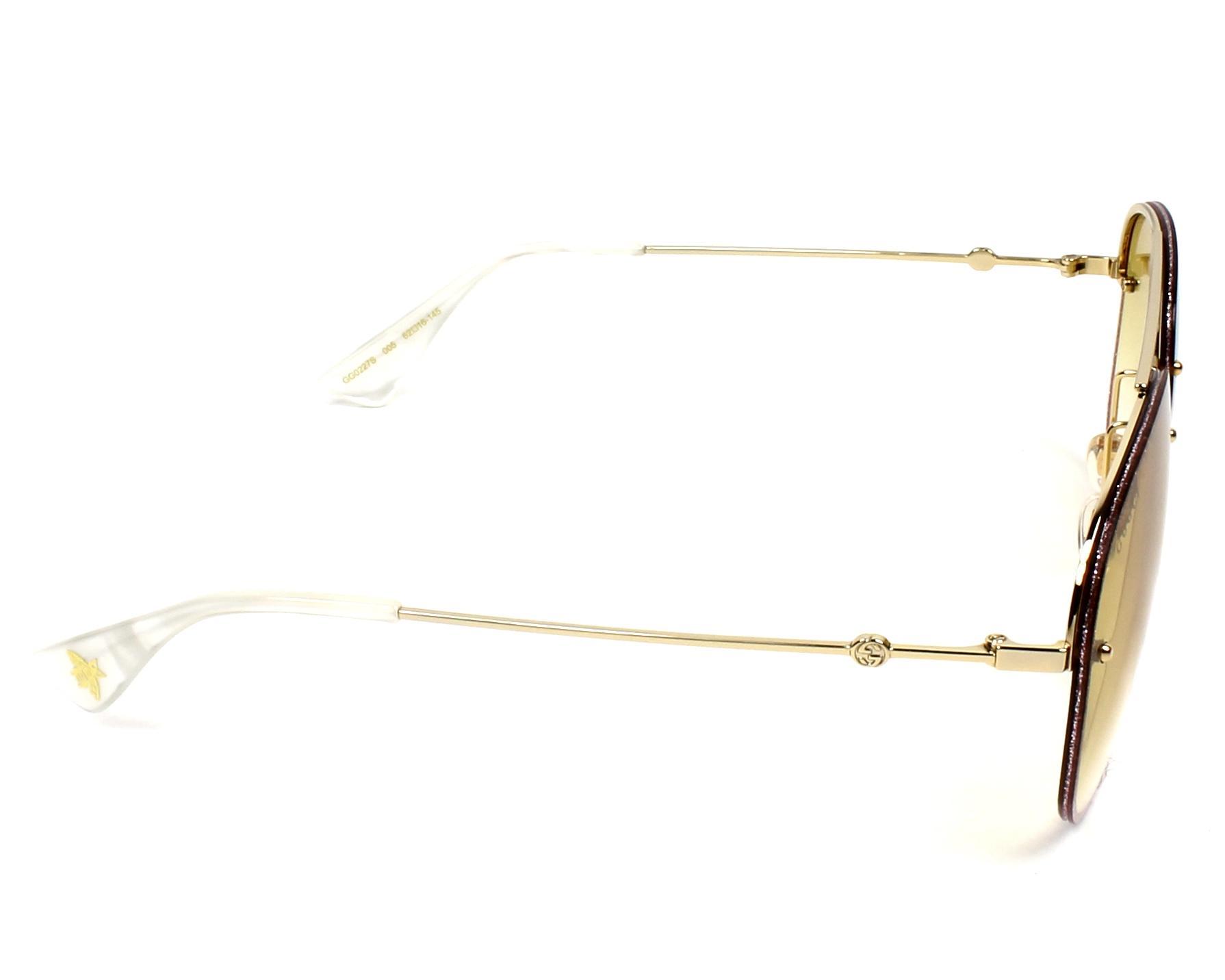 99aeeb4acd7 Sunglasses Gucci GG-0227-S 005 62-16 Rosa Gold side view