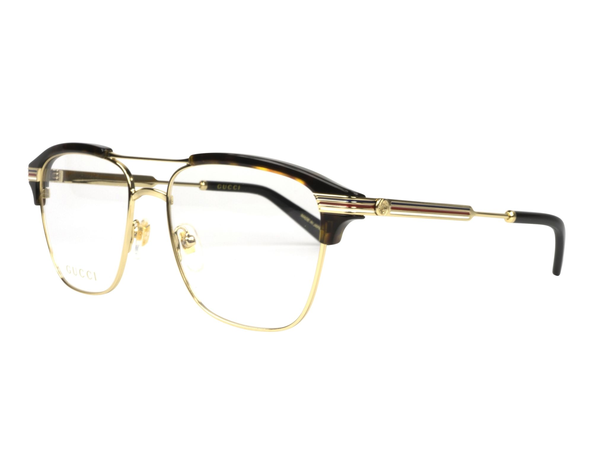 73aab46e60dd eyeglasses Gucci GG-0241-O 003 54-17 Gold Havana profile view