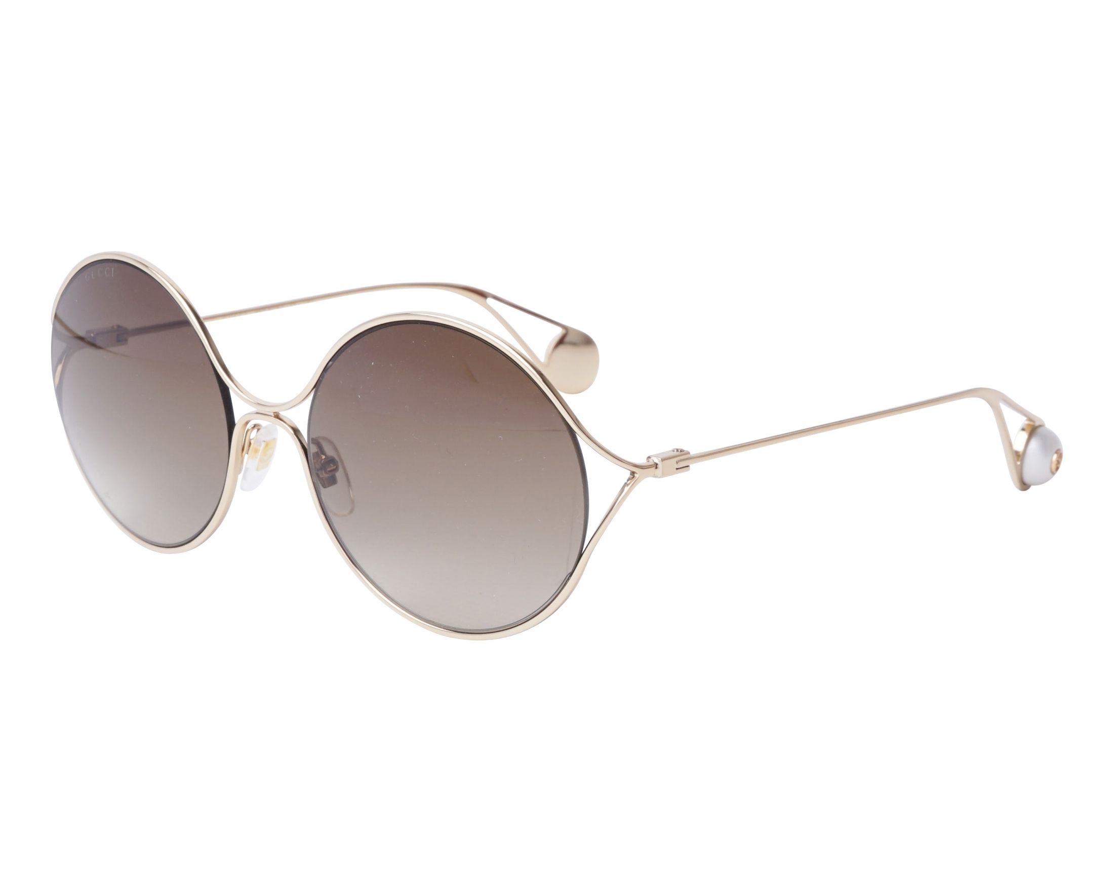 Sunglasses Gucci GG-0253-S 002 58-20 Gold profile view 9a29aec72f