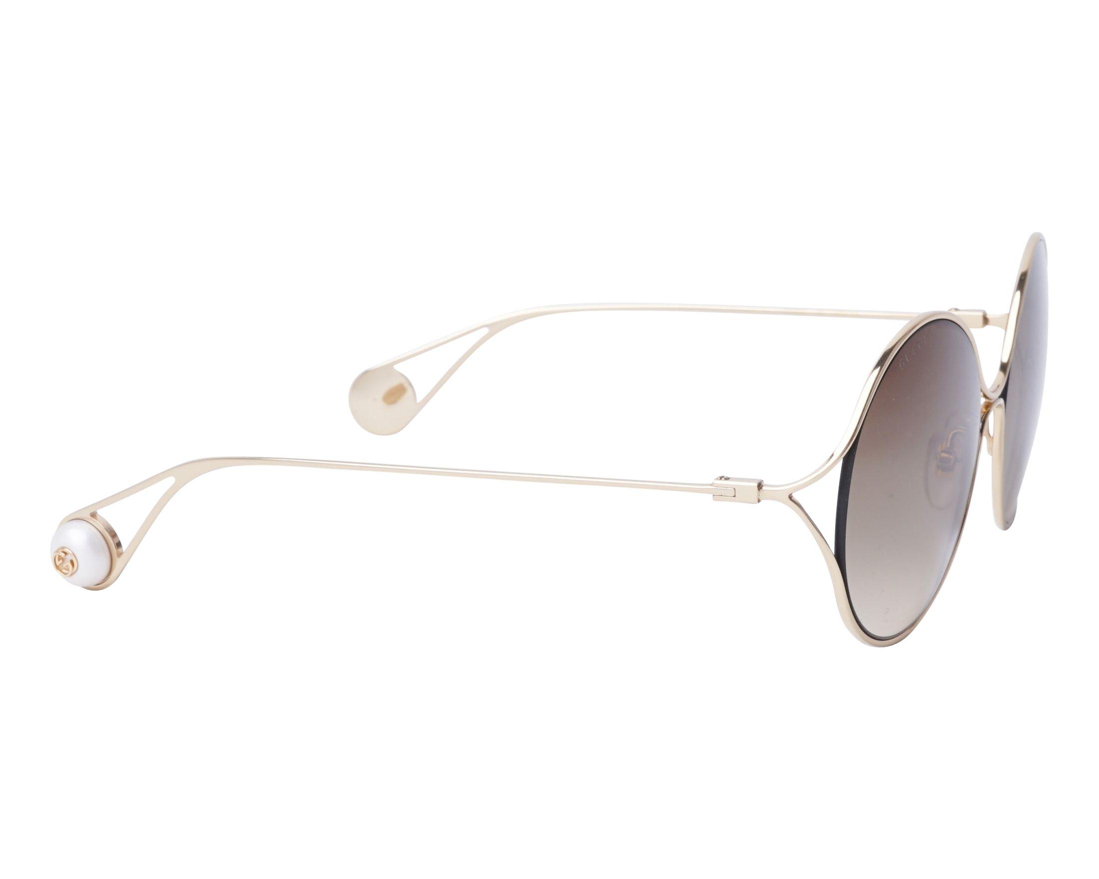 Sunglasses Gucci GG-0253-S 002 58-20 Gold side view 334331bbc3